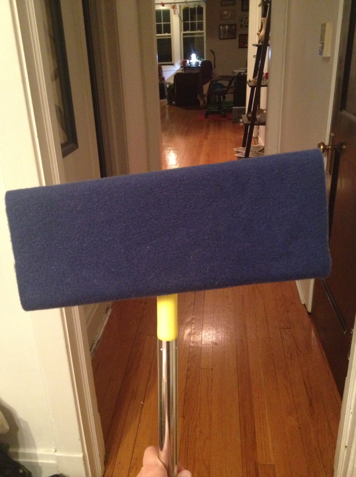 Navy blue cloth on Swiffer