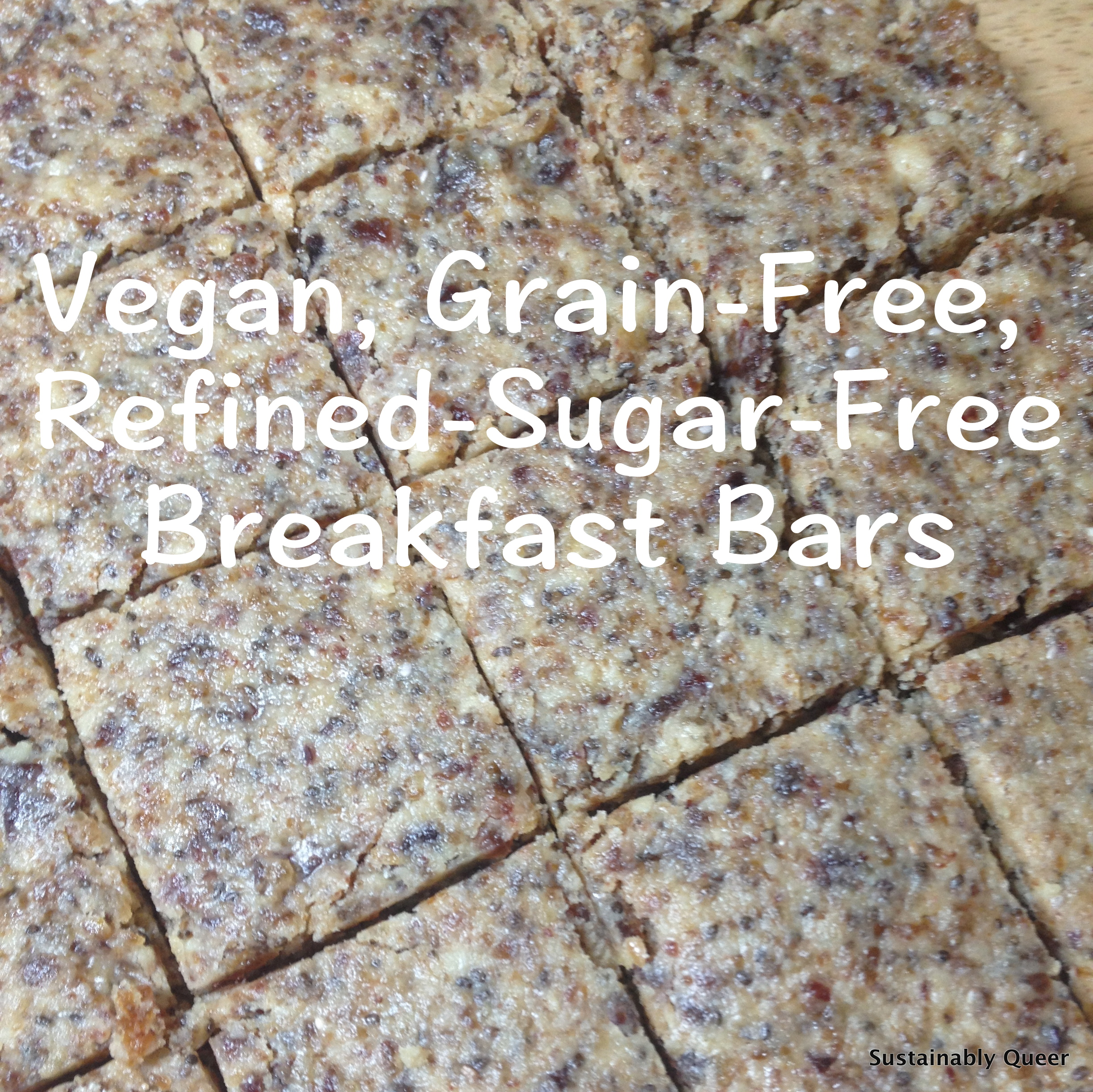 Vegan, Grain-Free, Refined-Sugar-Free Breakfast Bars