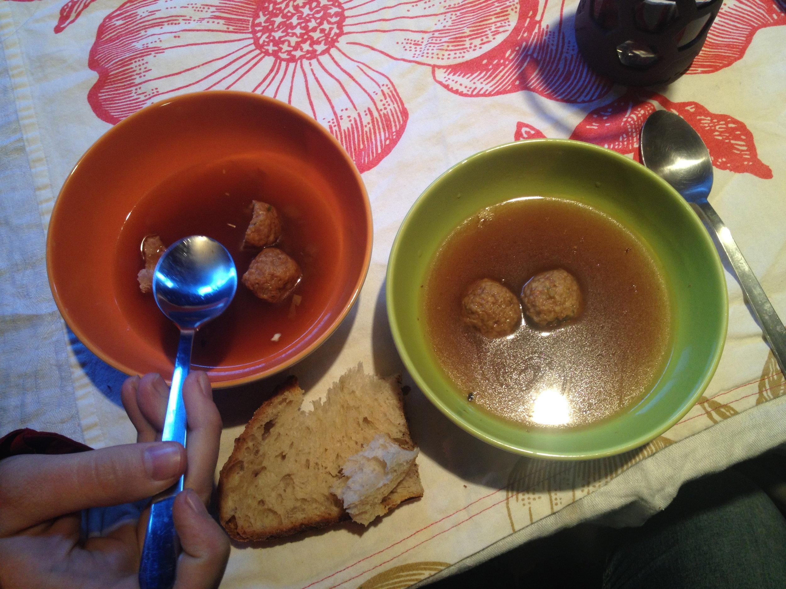 Tofu Matzo Ball Soup