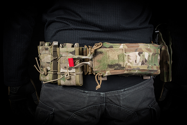 Belts constituting a 16 column molle only weigh 194g