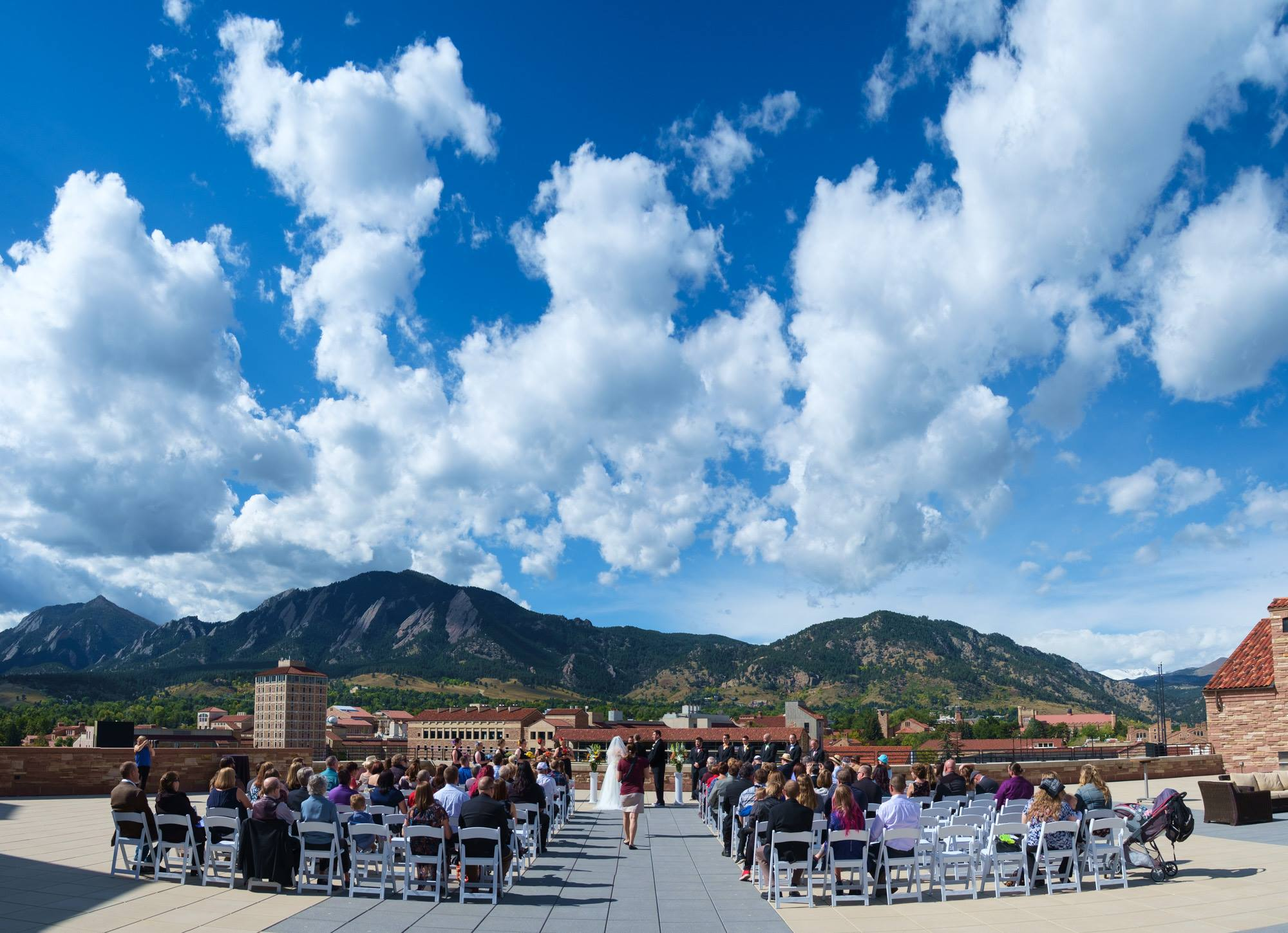 Folsom Field rooftop, University of Colorado Boulder