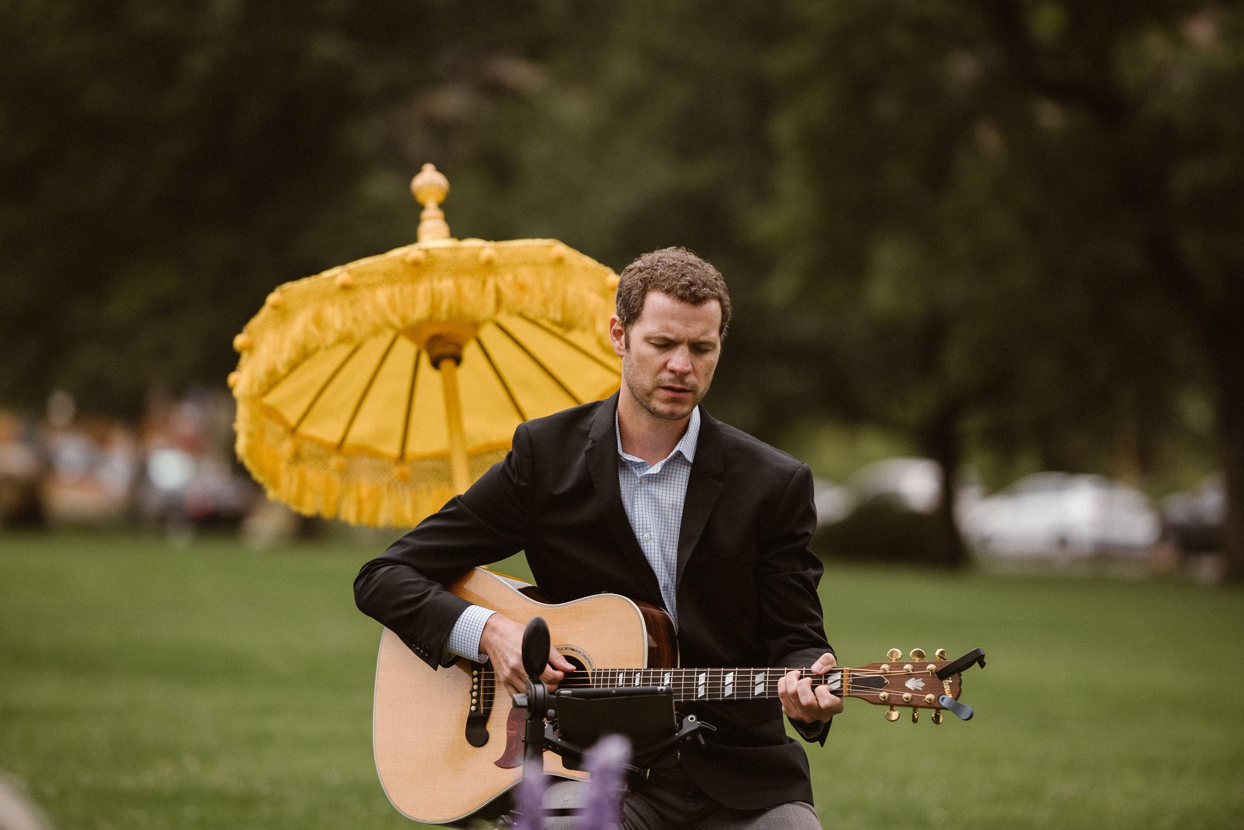 Chautauqua Park Wedding Ceremony with Chris Webb Music