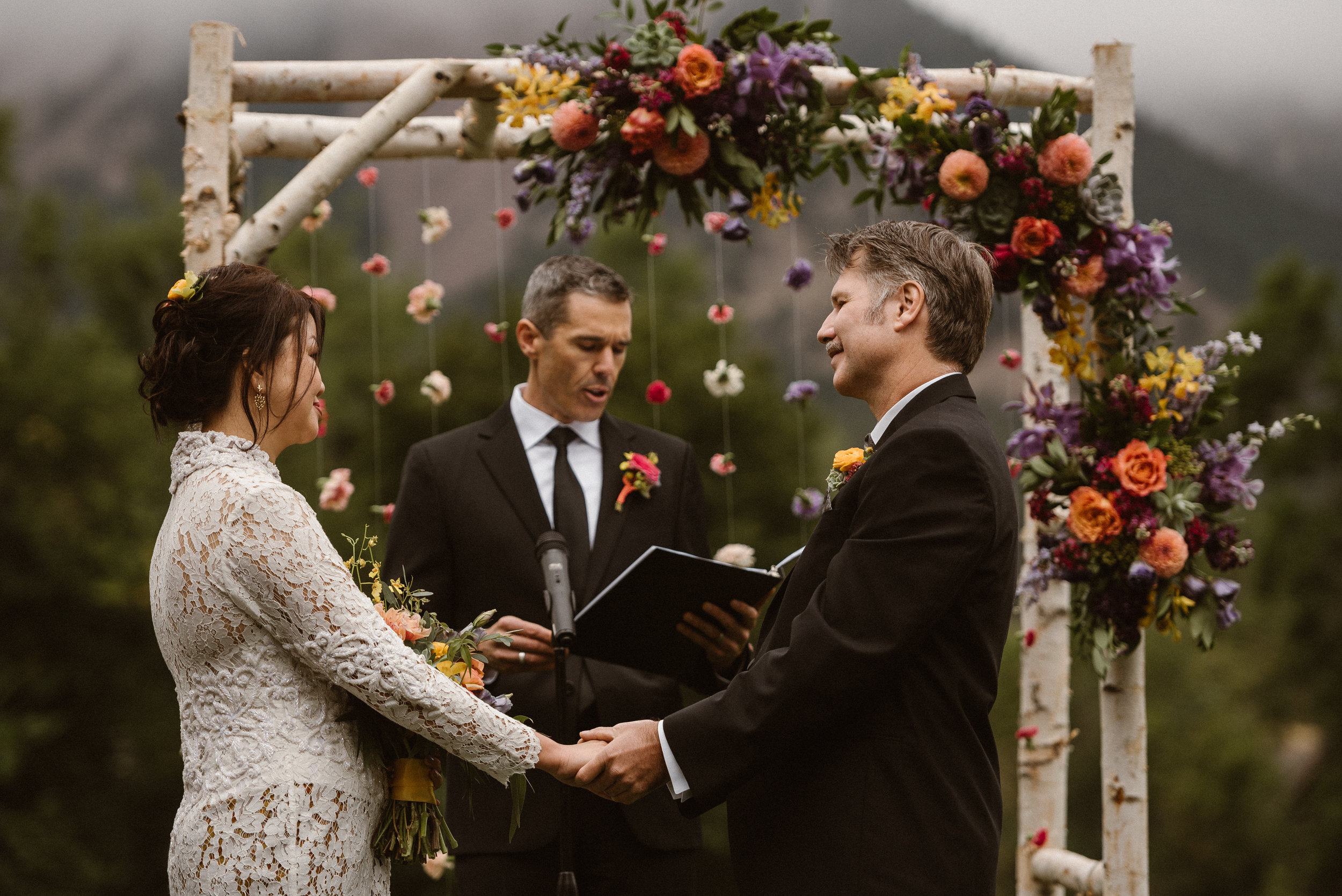 Chautauqua Park Morning Wedding Ceremony in Boulder, Colorado