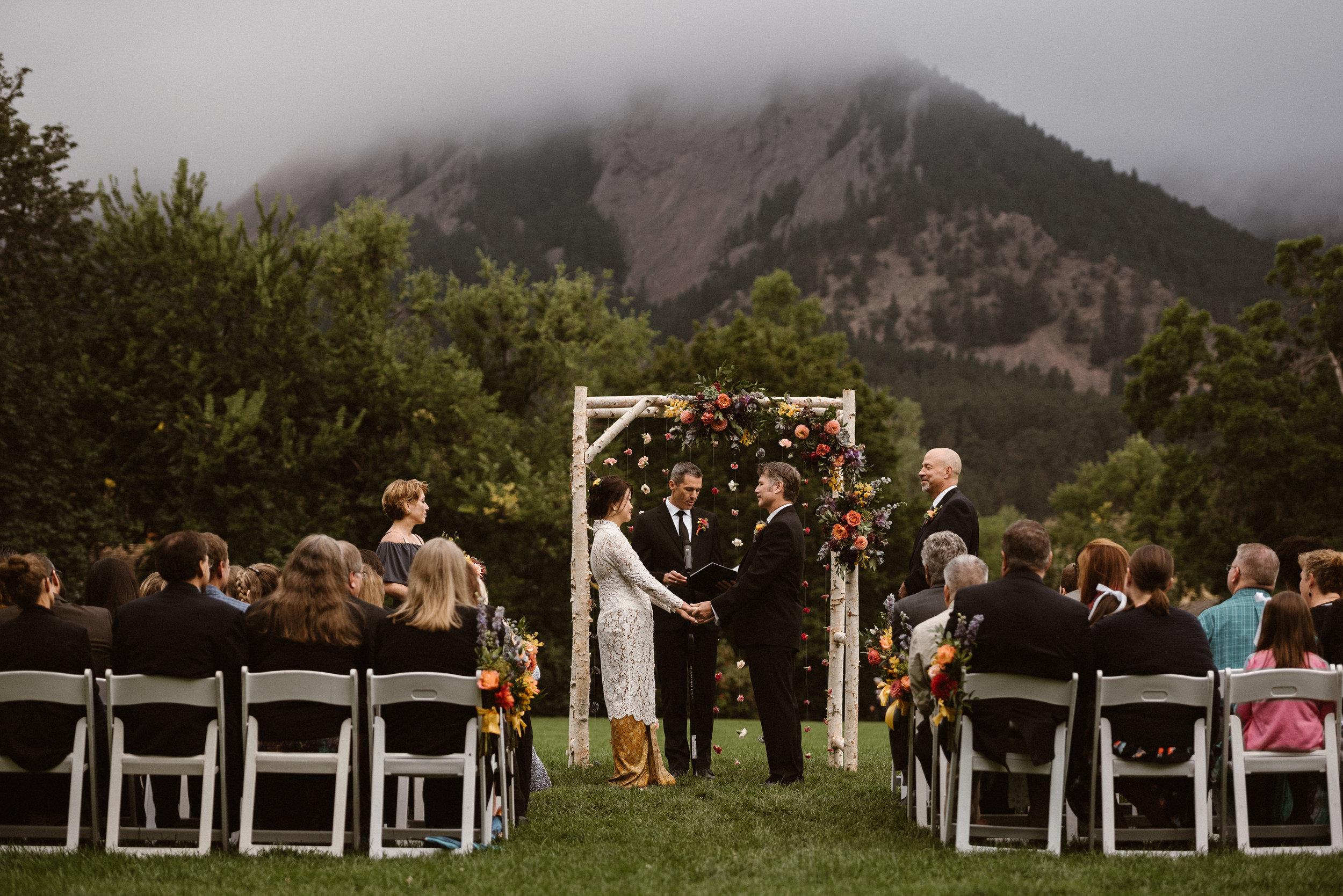 Chautauqua Park Wedding Ceremony in Boulder, Colorado