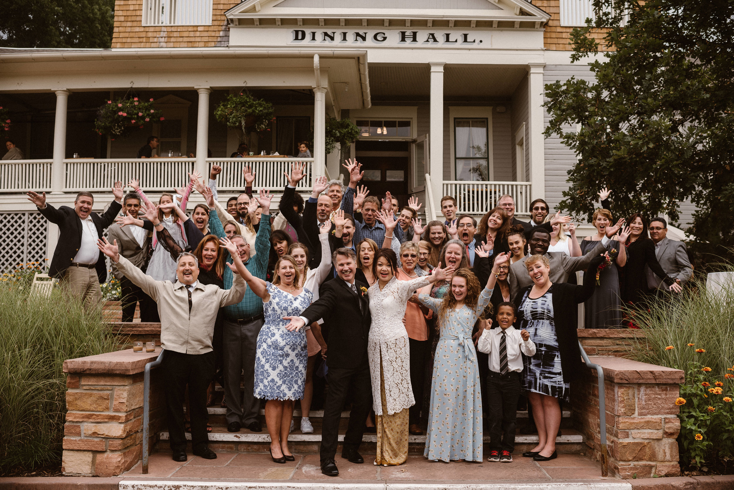 Bridal Party at Chautauqua Dining Hall in Boulder, Colorado