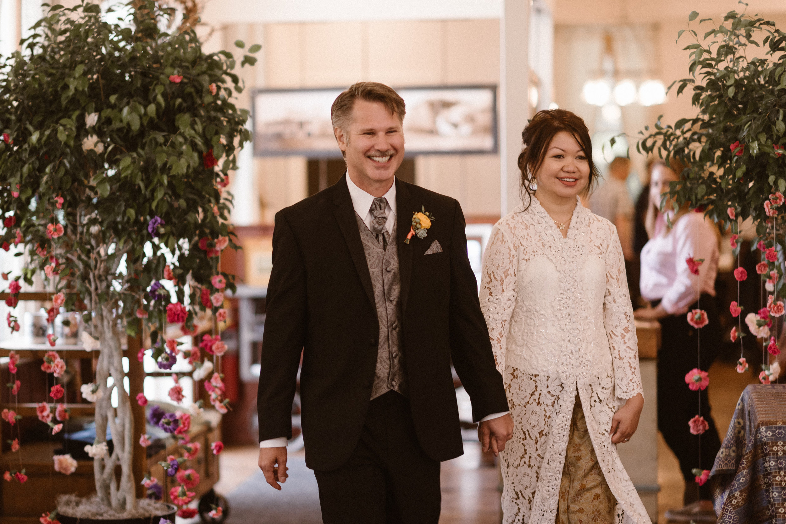 Bride and Groom Entrance at Chautauqua Dining Hall