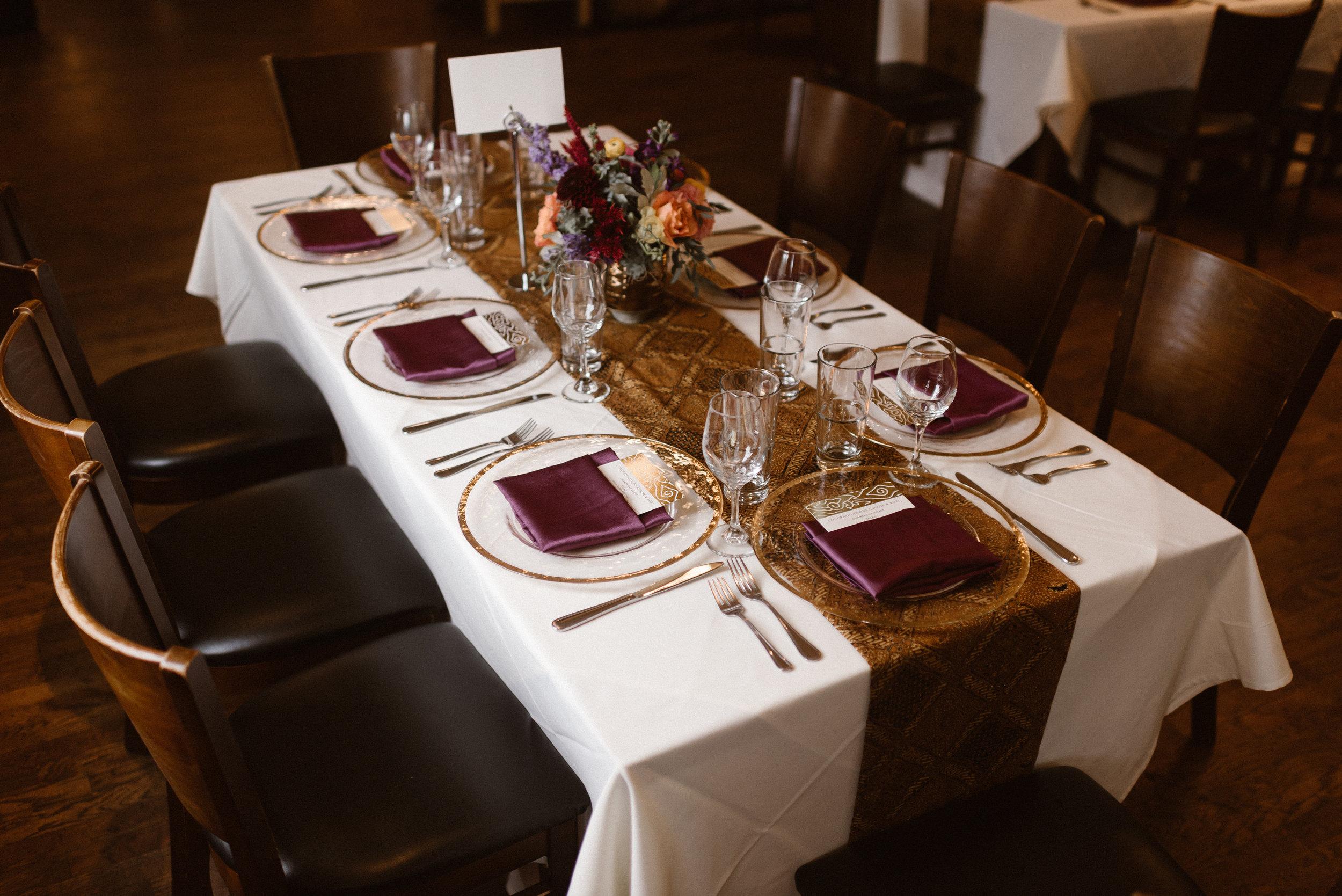 Chautauqua Dining Hall Wedding Reception Table