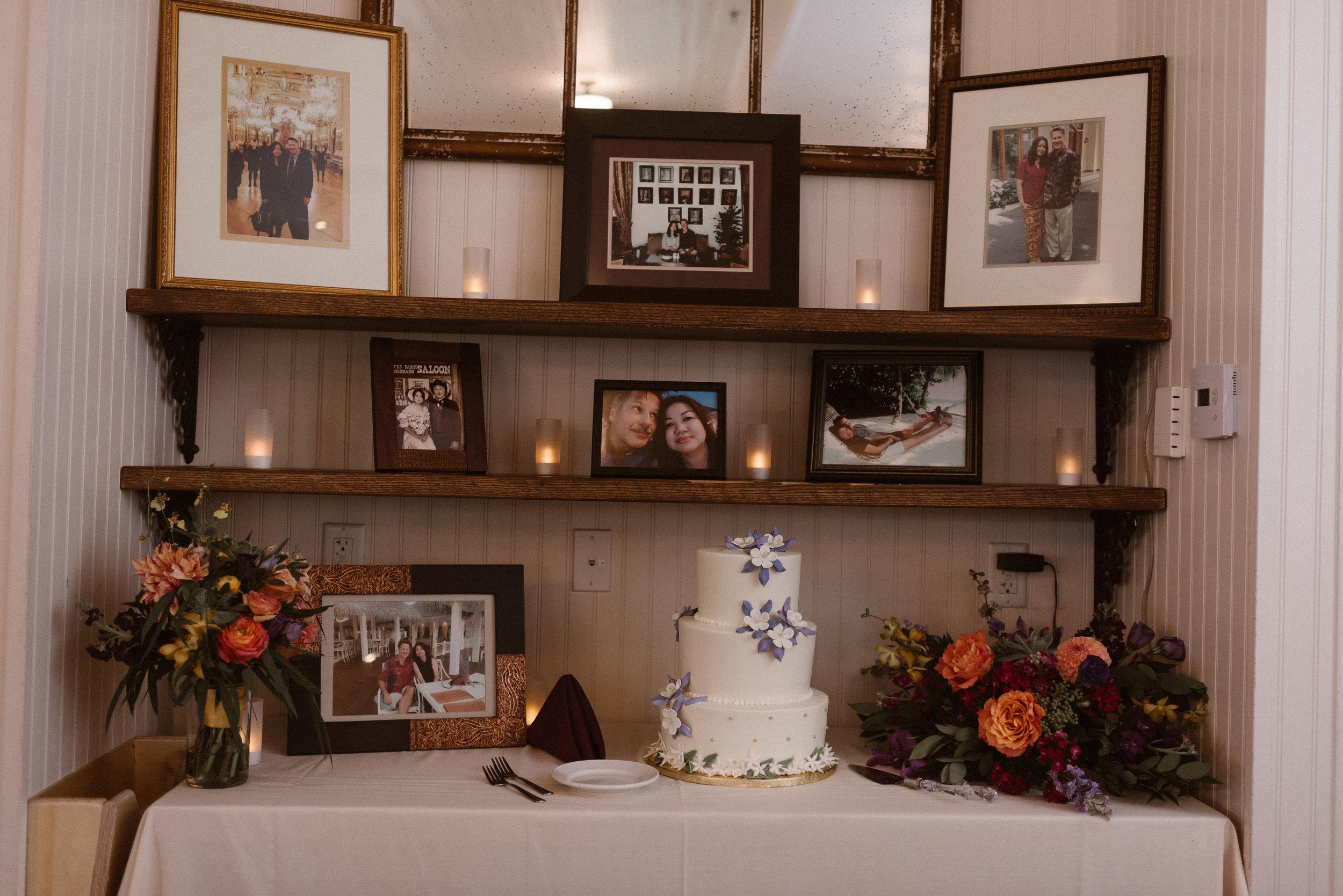 Cake and Photo Display