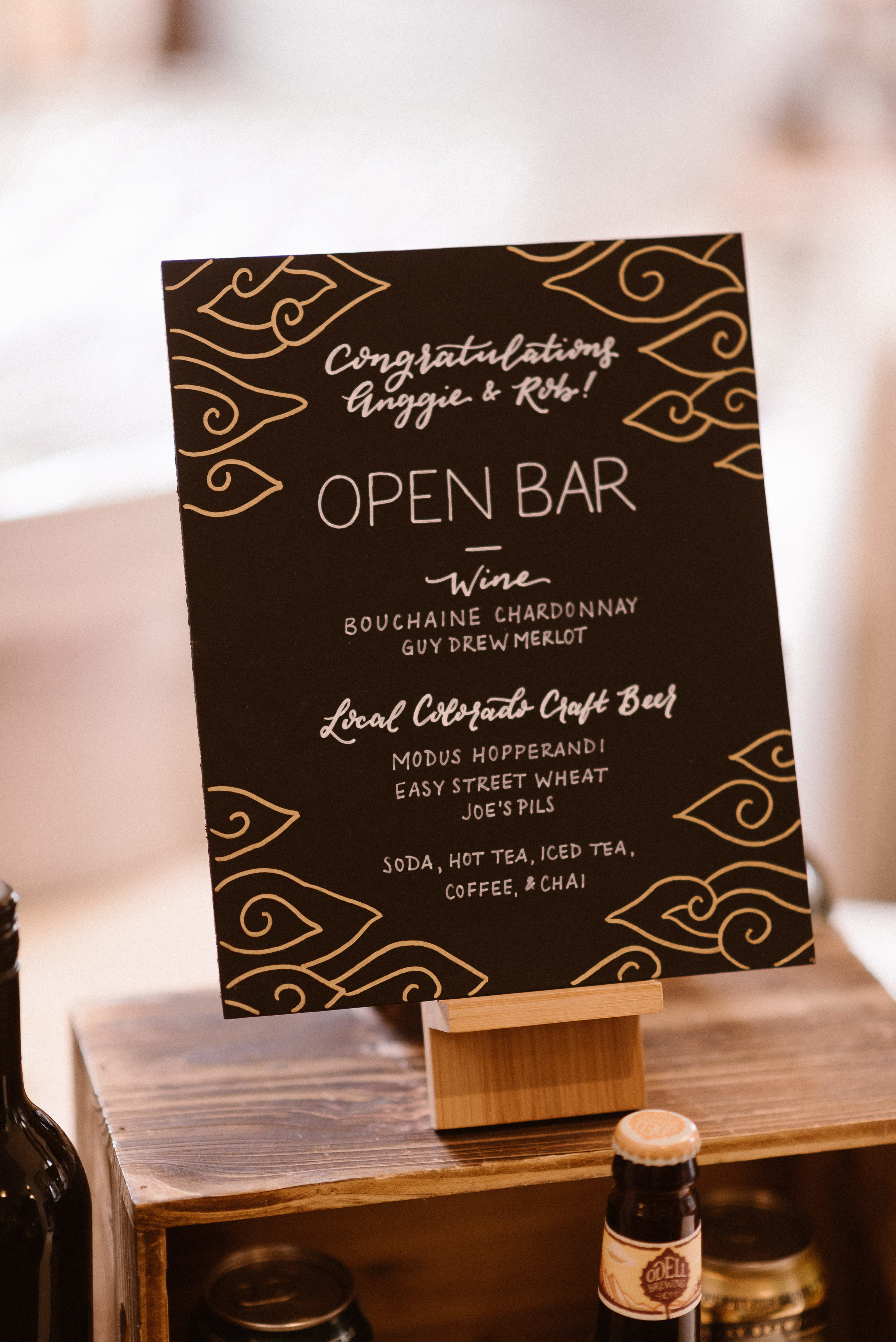 Hand Lettered Bar Sign by Amy Zhagn Creative