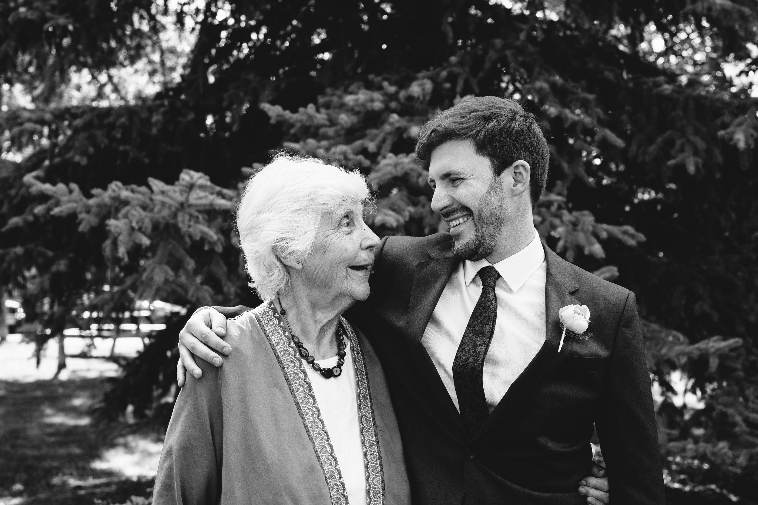 Groom and His Grandma