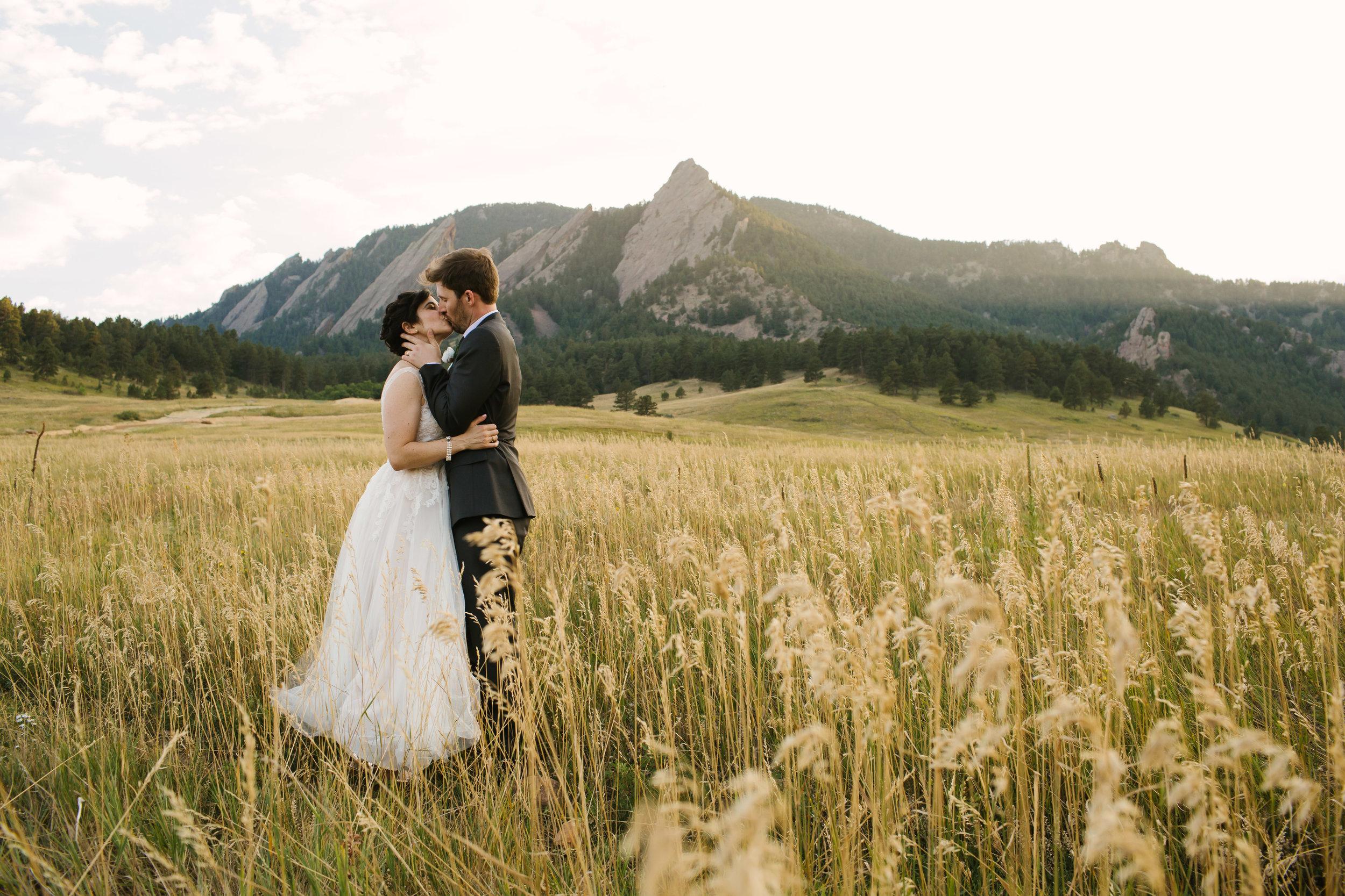 Chautauqua Park Bride and Groom