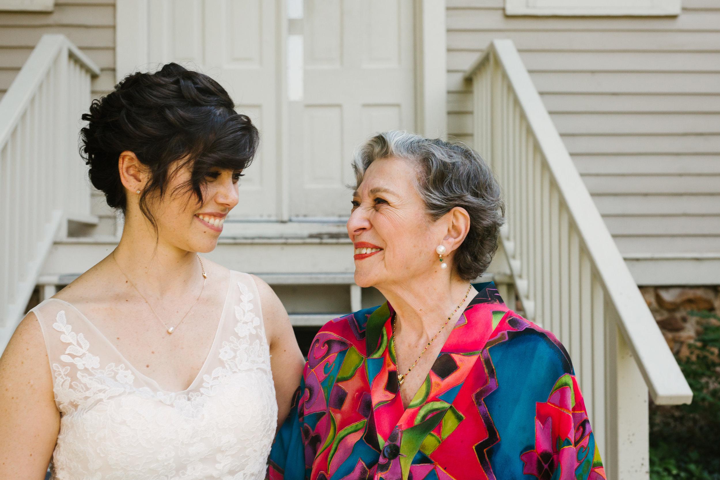 Bride and Her Grandma