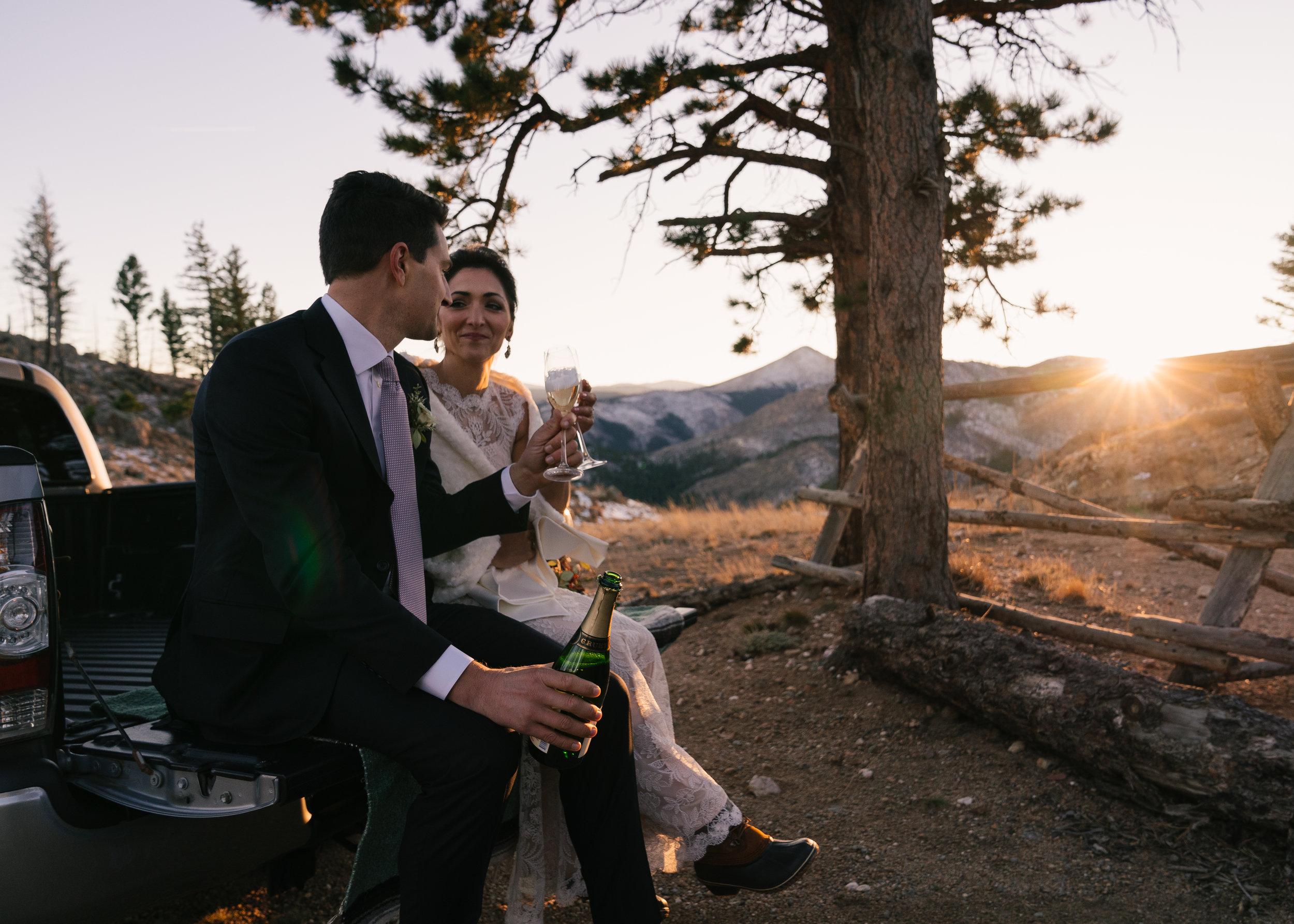 Bride and Groom in Boulder Colorado