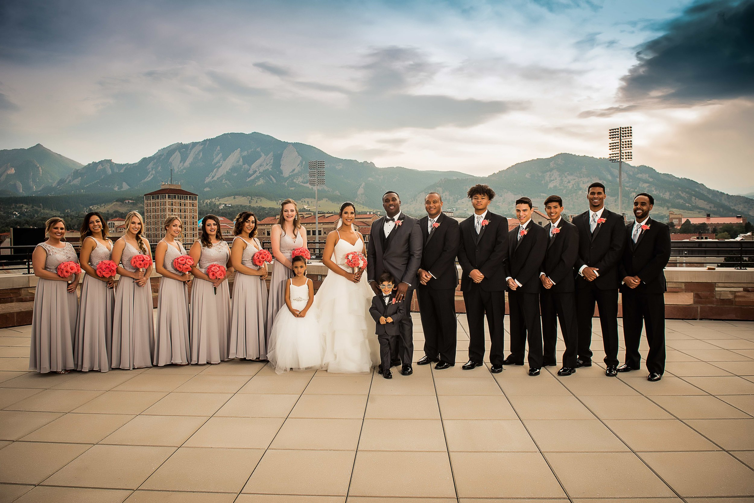 Folsom Field Bridal Party