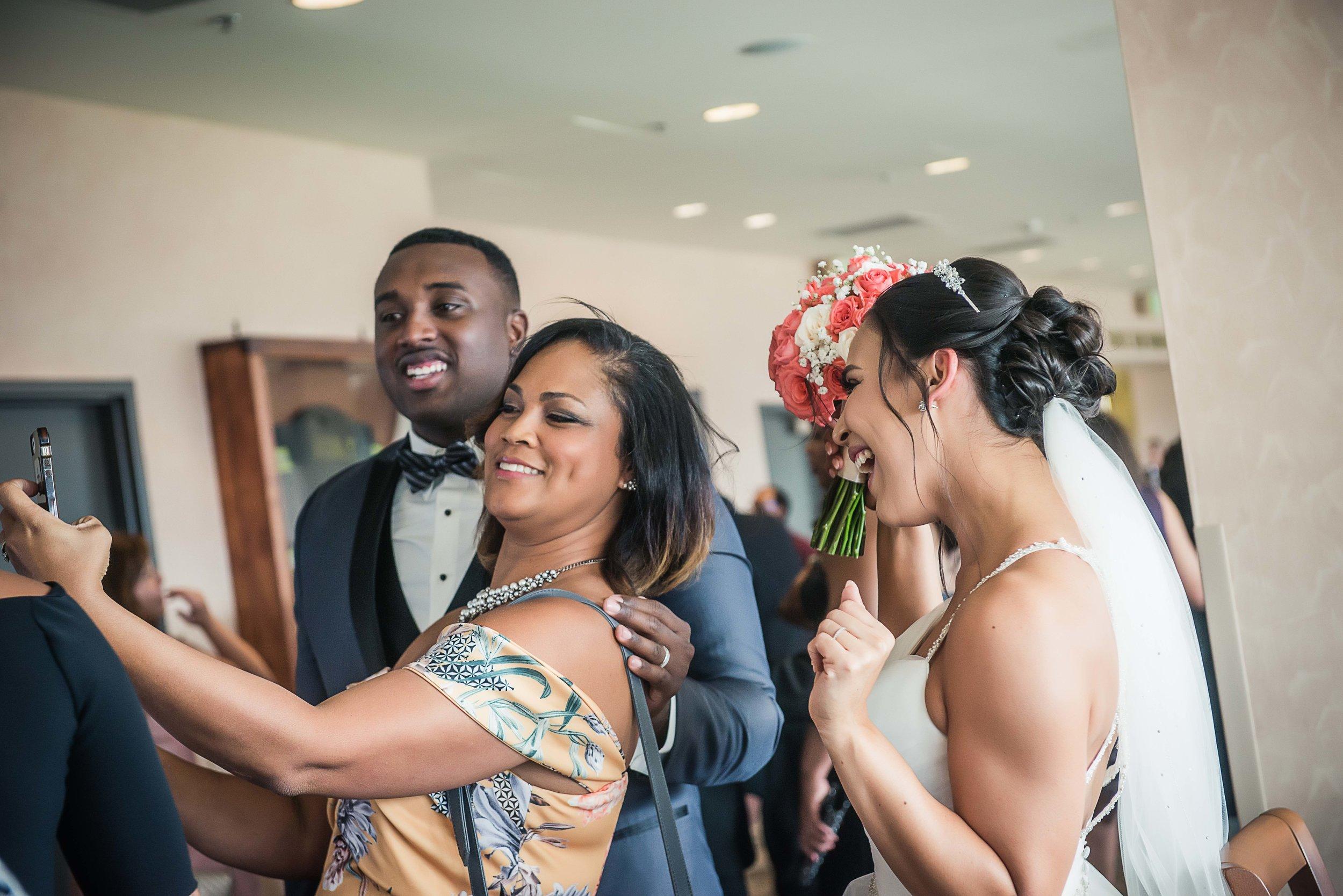 Folsom Field Wedding Selfie