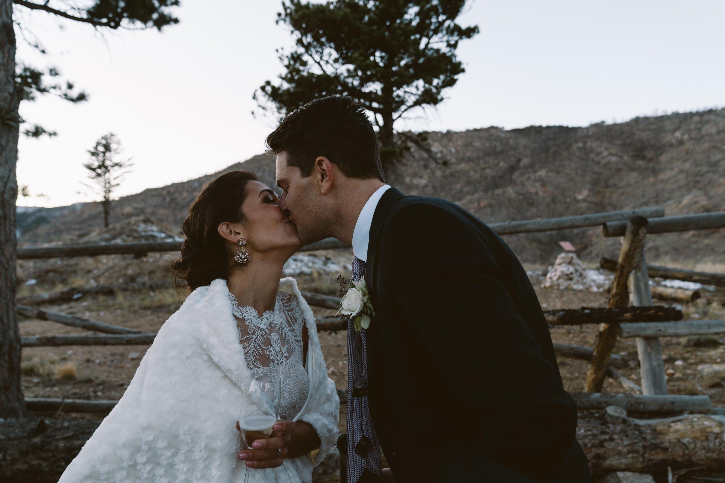 Bride and Groom in Boulder, CO