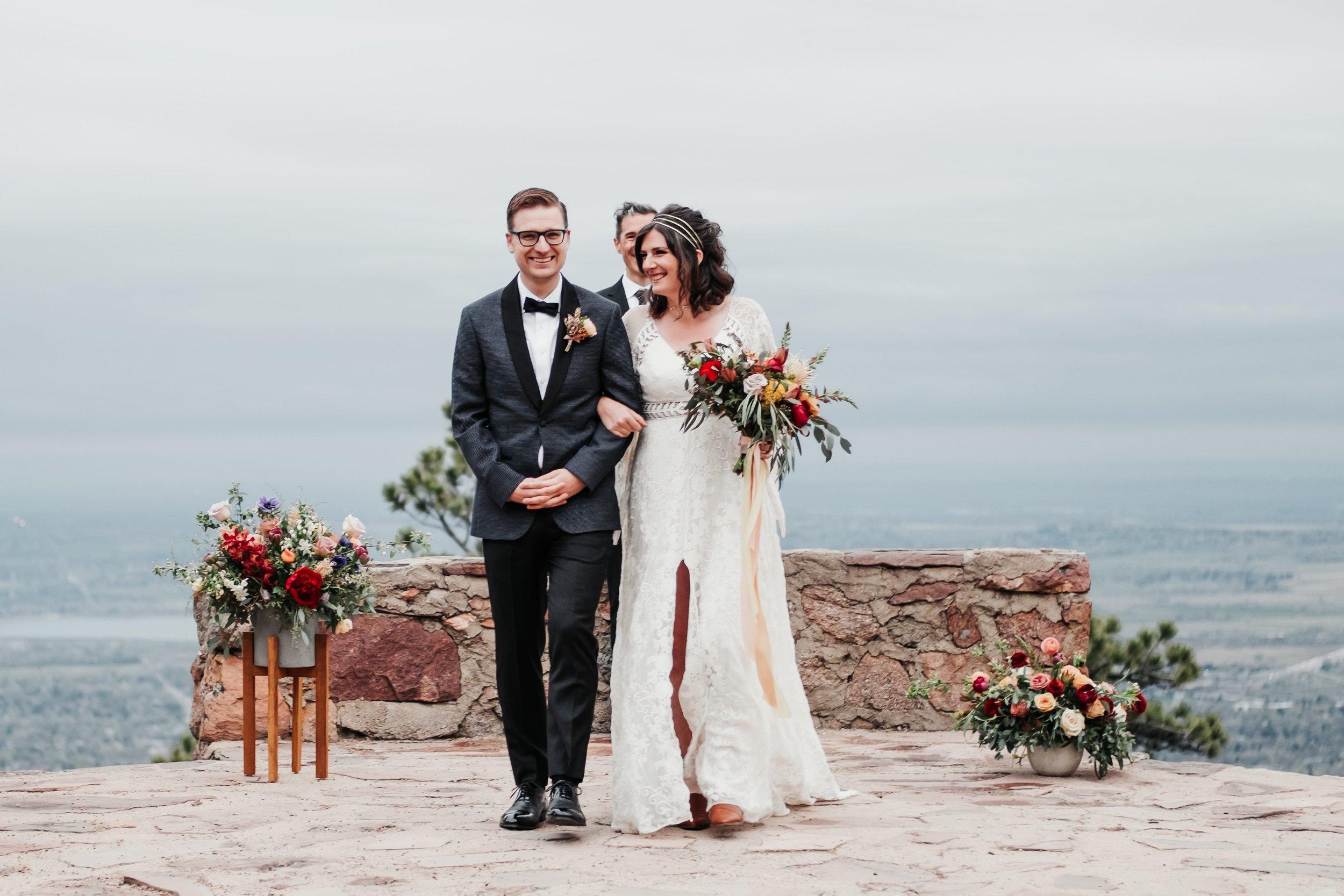 Sunrise Amphitheater Boulder Wedding Ceremony