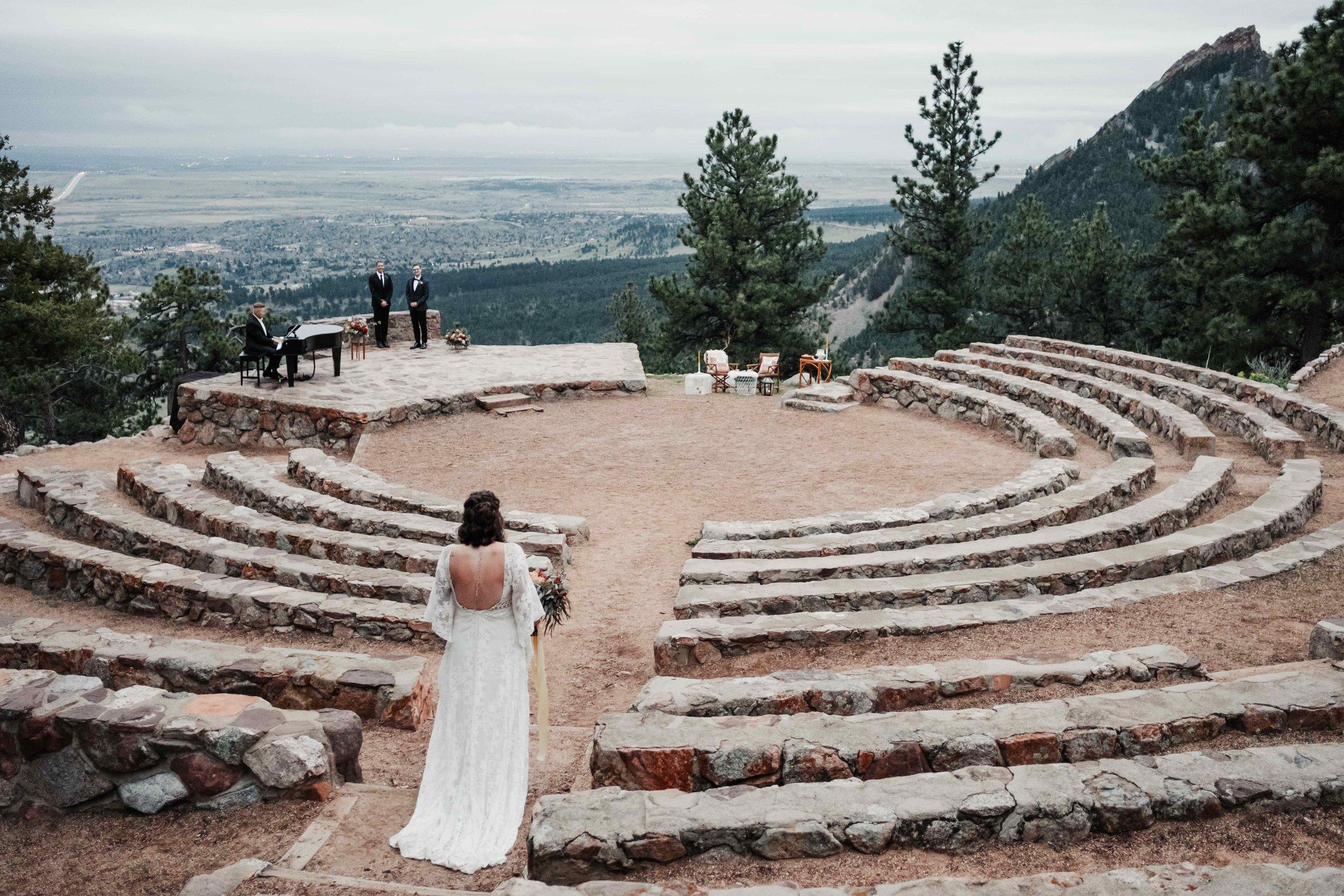 Sunrise Amphitheater Wedding Ceremony at Sunrise
