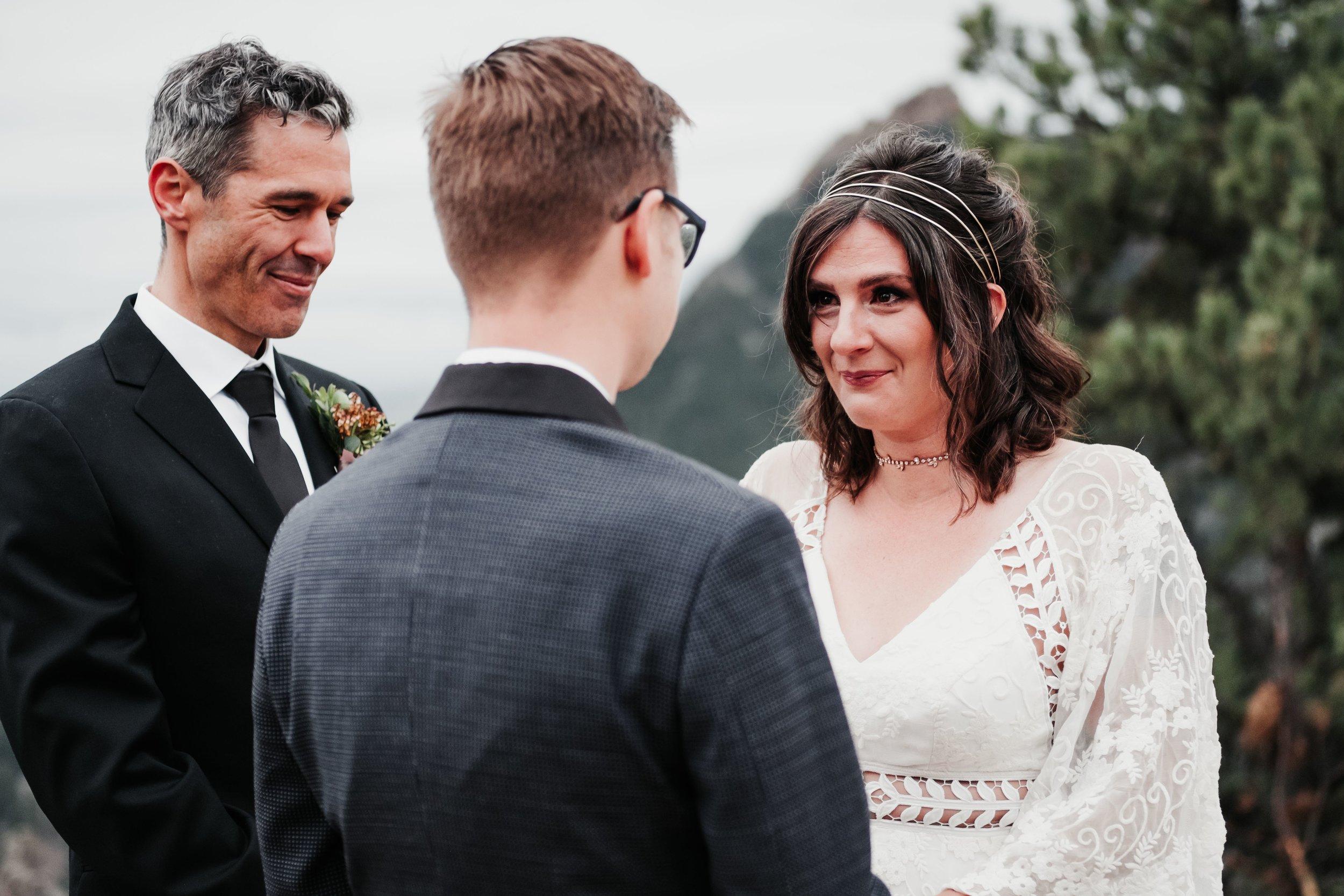 Boulder Wedding Ceremony at Sunrise Amphitheater