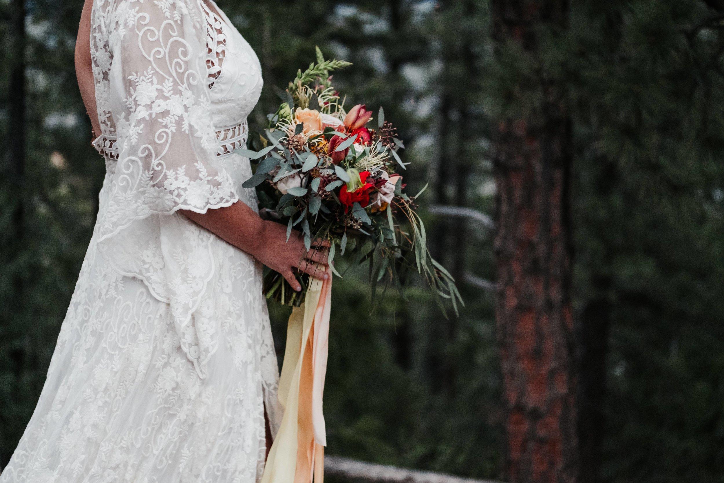 Boulder Bridal Bouquet Before Ceremony