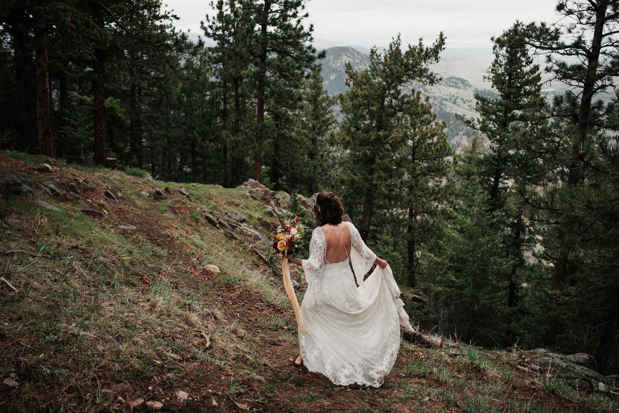 Boulder Bride at Sunrise Amphitheater