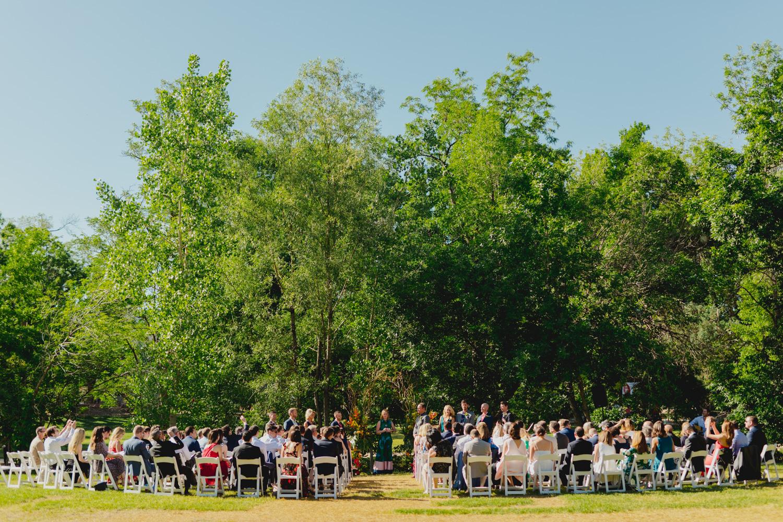 Boulder Outdoor Wedding Ceremony