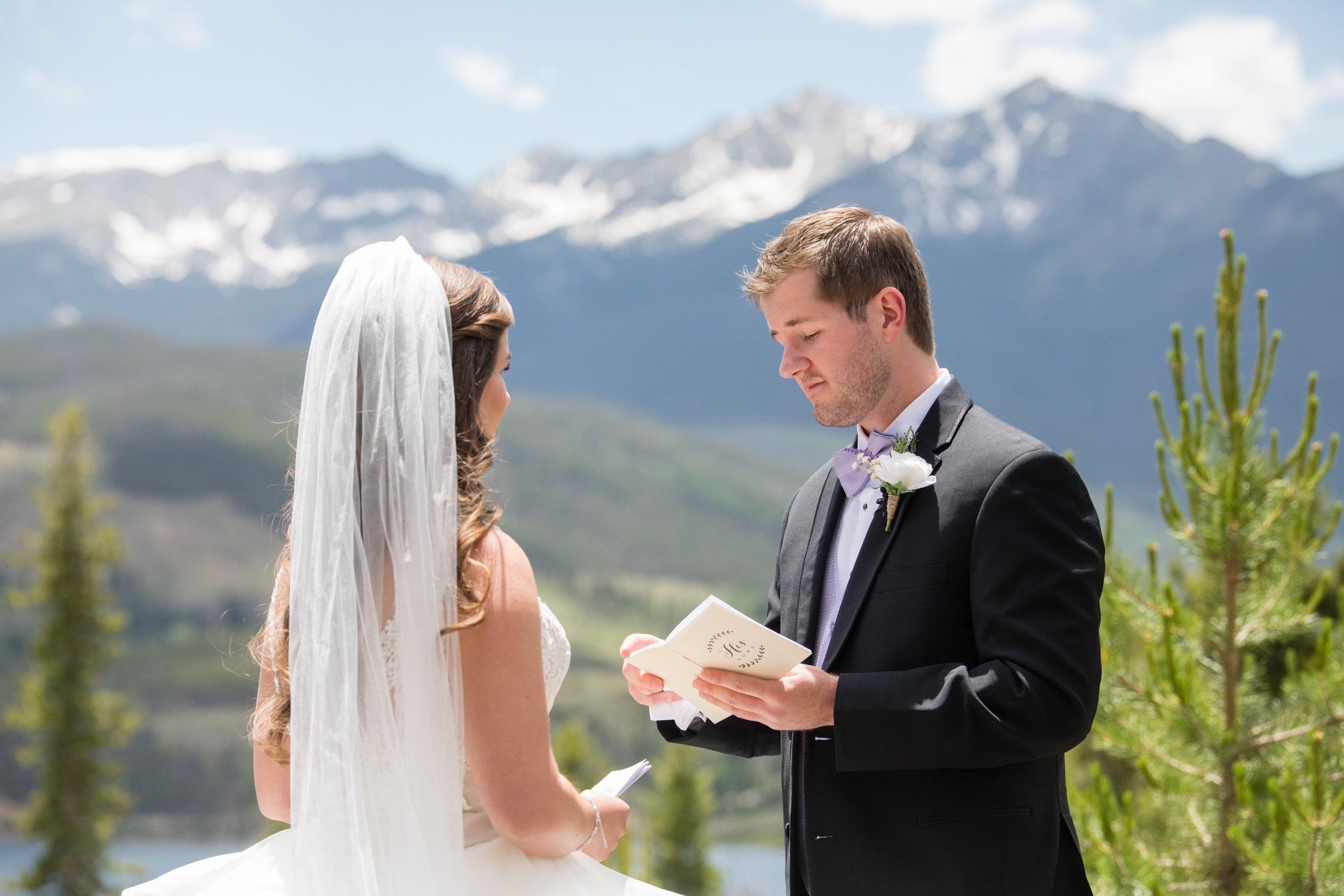 Breckenridge Wedding First Look at Sapphire Point