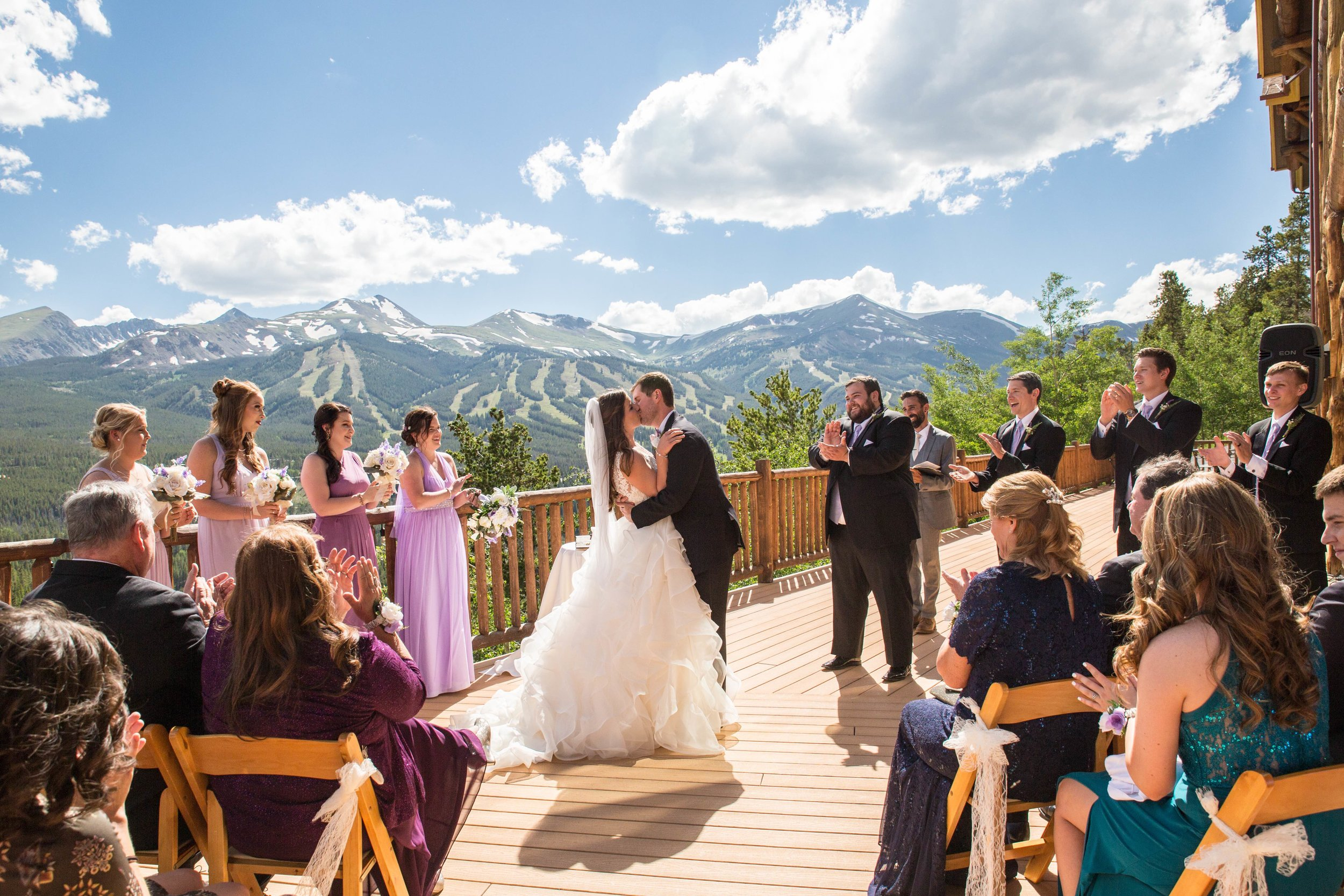 Outdoor Wedding Ceremony at The Lodge at Breckenridge