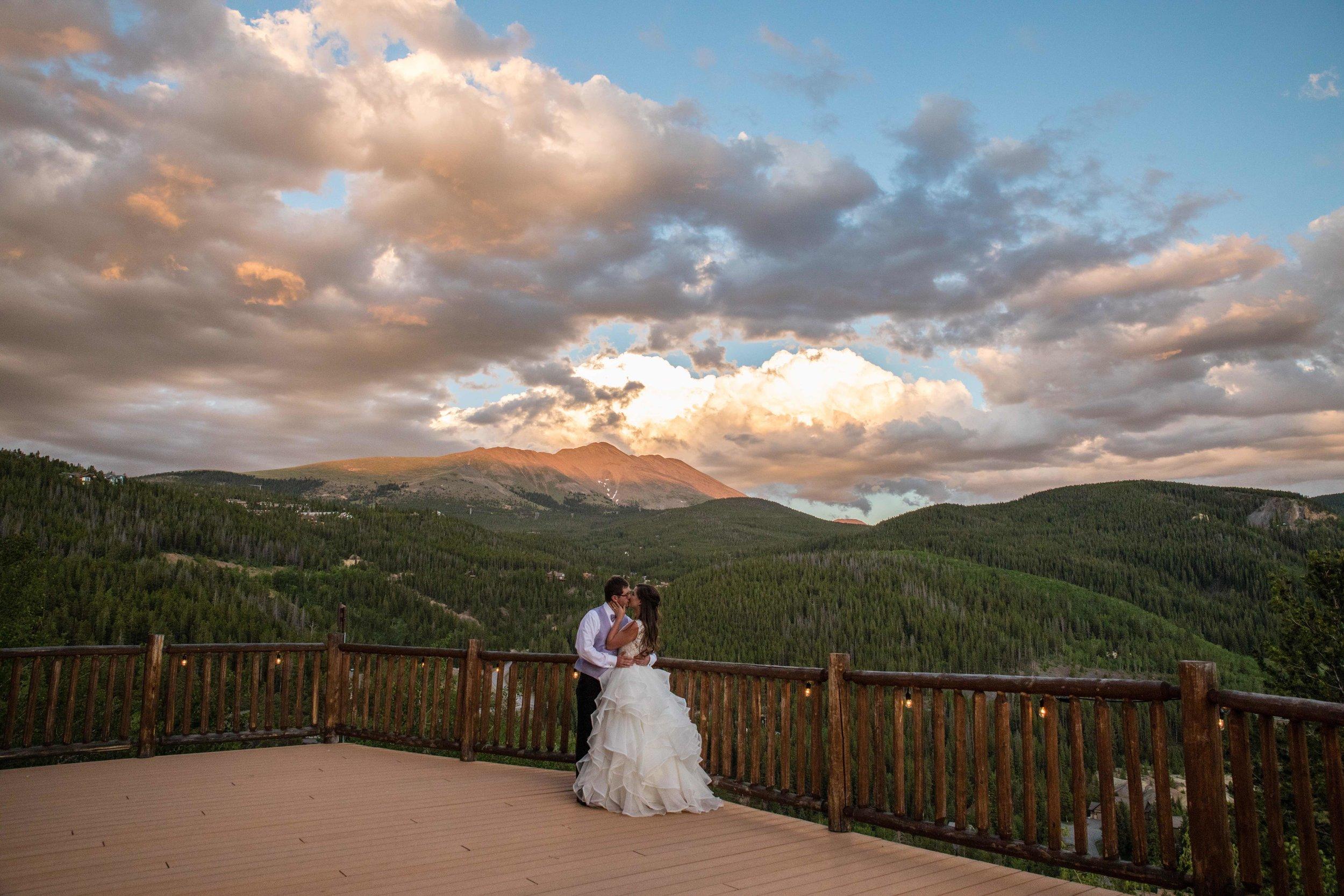 Sunset Breckenridge Wedding