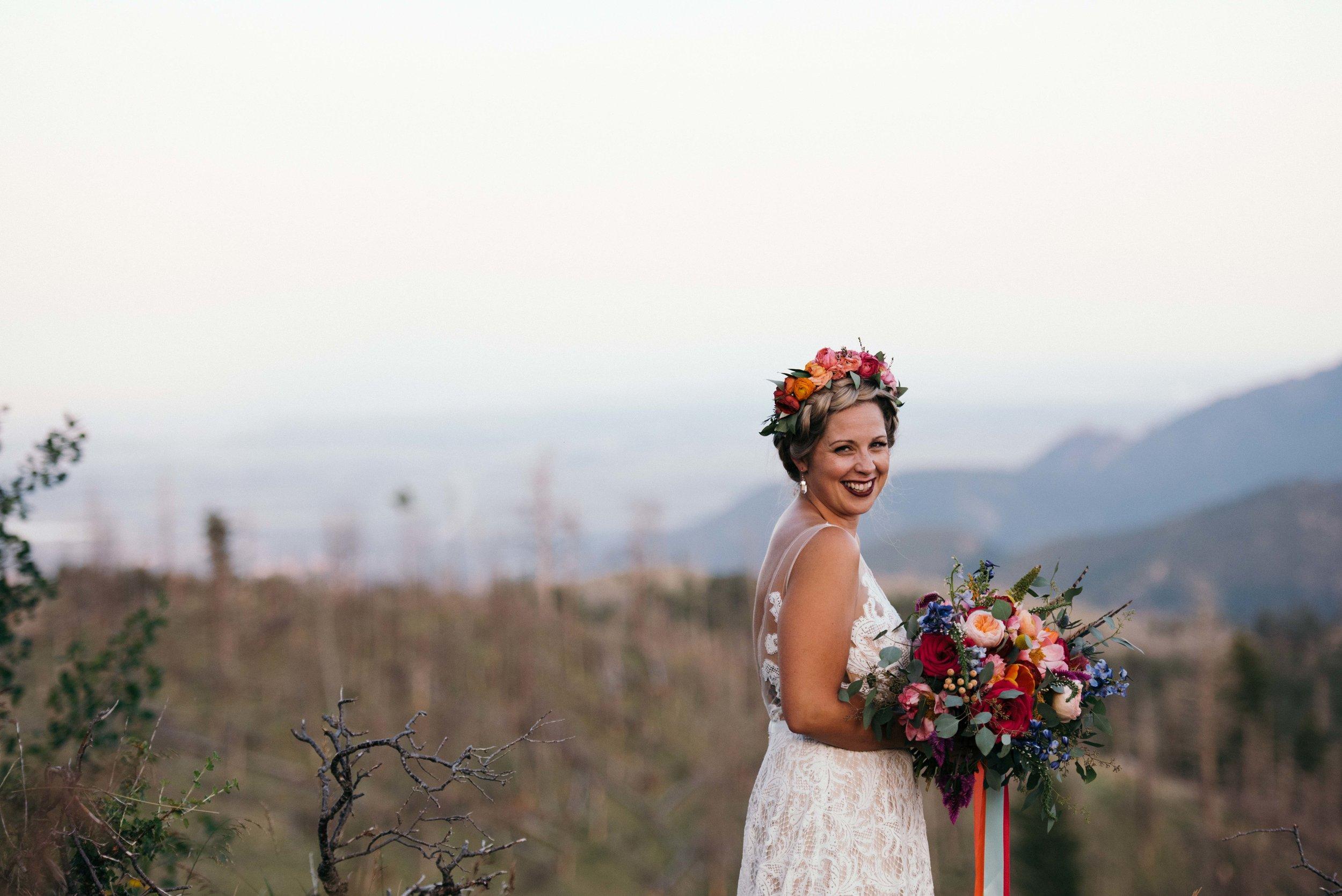Colorado Mountain View Wedding Near Boulder