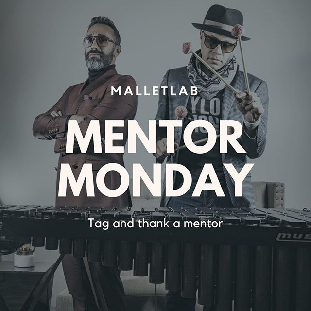GOOD MORNING! Welcome to #MentorMonday TAG a mentor who has added value to your life. Wether it's a teacher who always drops logic bombs, an instagram follow that Inspires you, or someone who's music and artistic contribution pushes you to be a better artist, then let em know and let them know why!  Have a power week MalletLab fam! •••••••••••••••••••••••••••••••••••••••••••••••••••••••••••• #malletlab #malletlab19 #itsnotaxylophone  #vibraphone #marimba #xylophone #memberfeature #percussioneducation #inspiration #pas #frontensemble @innovativepercussion @ludwigmusser @beetlepercussion @modemarimba @sabiancymbals_official @percussivearts