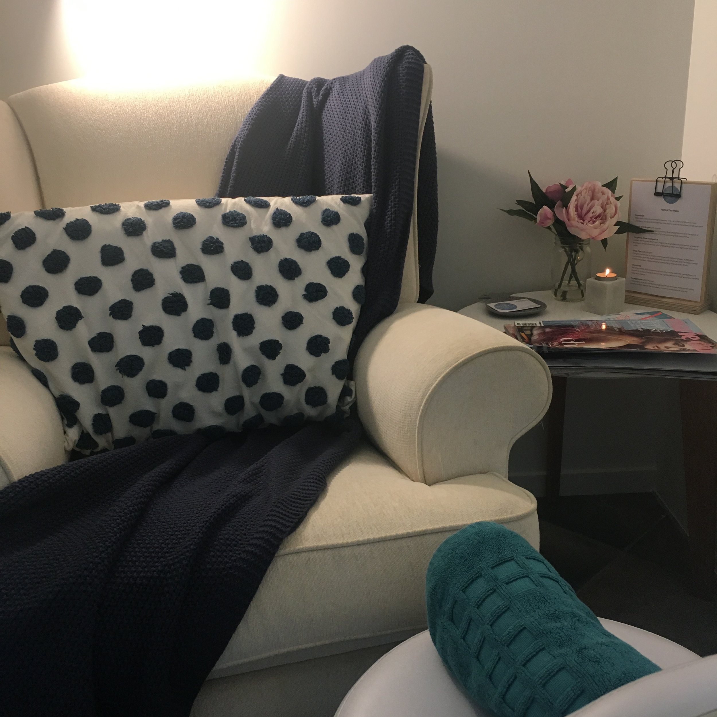 Put your feet up and enjoy a relaxing foot massage or pedicure