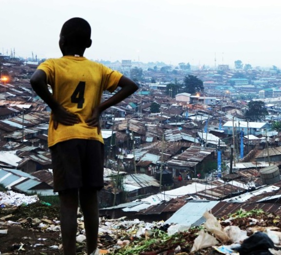 KIbera, the largest urban slum in Kenya
