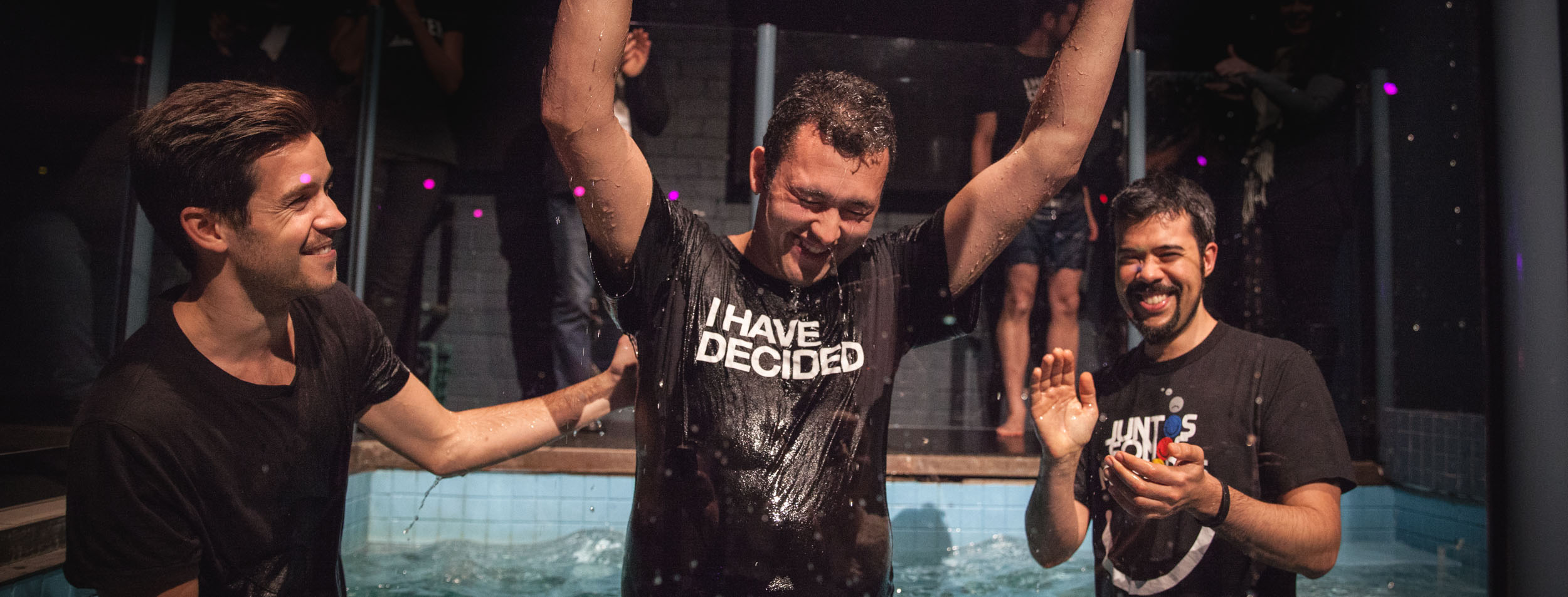 """""""Get Baptised"""" : Promotional Water Baptism image from the  Hillsong Melbourne  website"""