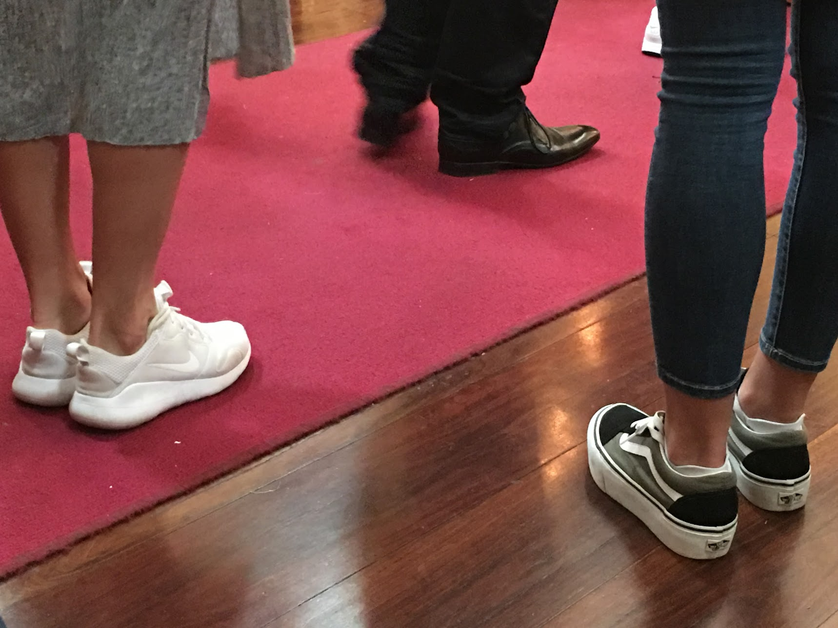 Fabulous footwear at Pokrov Russian Orthodox Cathedral at Christmas, Jan 2018 - photo by C.Schieve