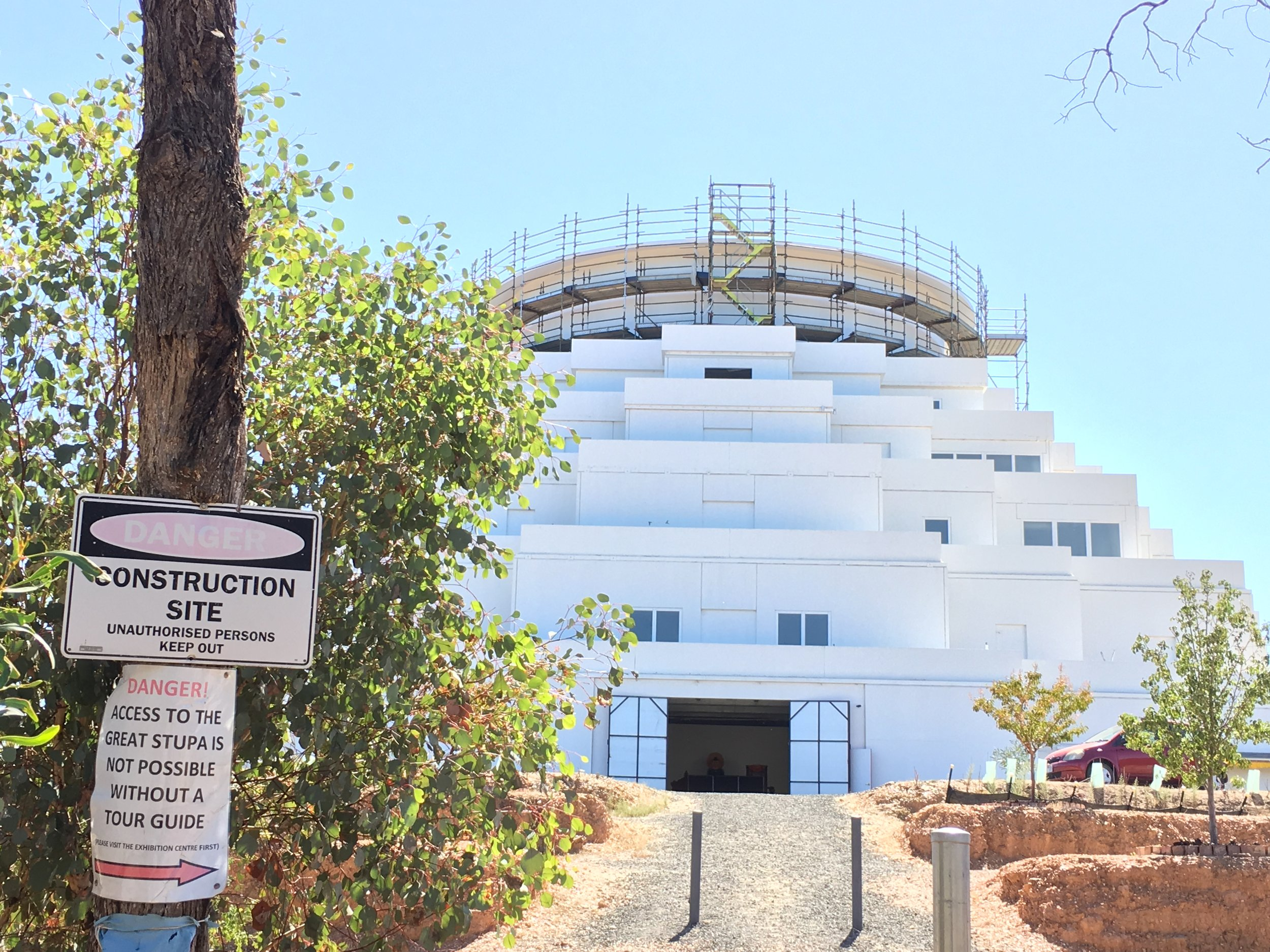 Under Construction: the Great Stupa of Universal Compassion - photo by Catherine Schieve