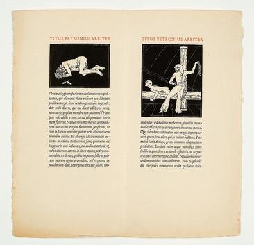 Cranach Presse, Petronius'  Satyricon , 1930 [Obj. 1493a-b]