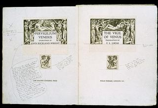 John Buckland Wright, The vigil of Venus , 1939 [ONT 351]