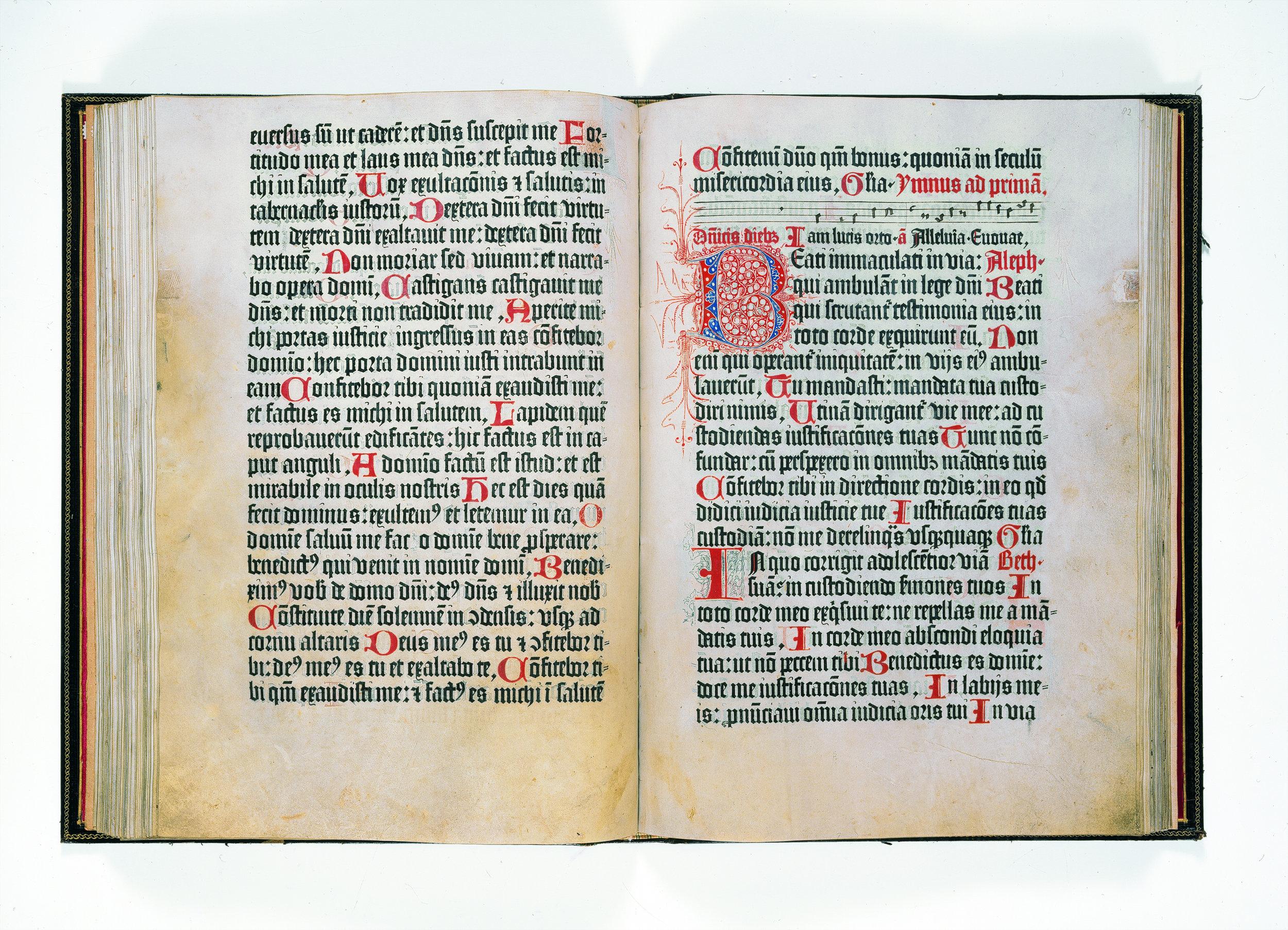 'Psalterium Benedictinum'[27 A 1, 81v-82r]