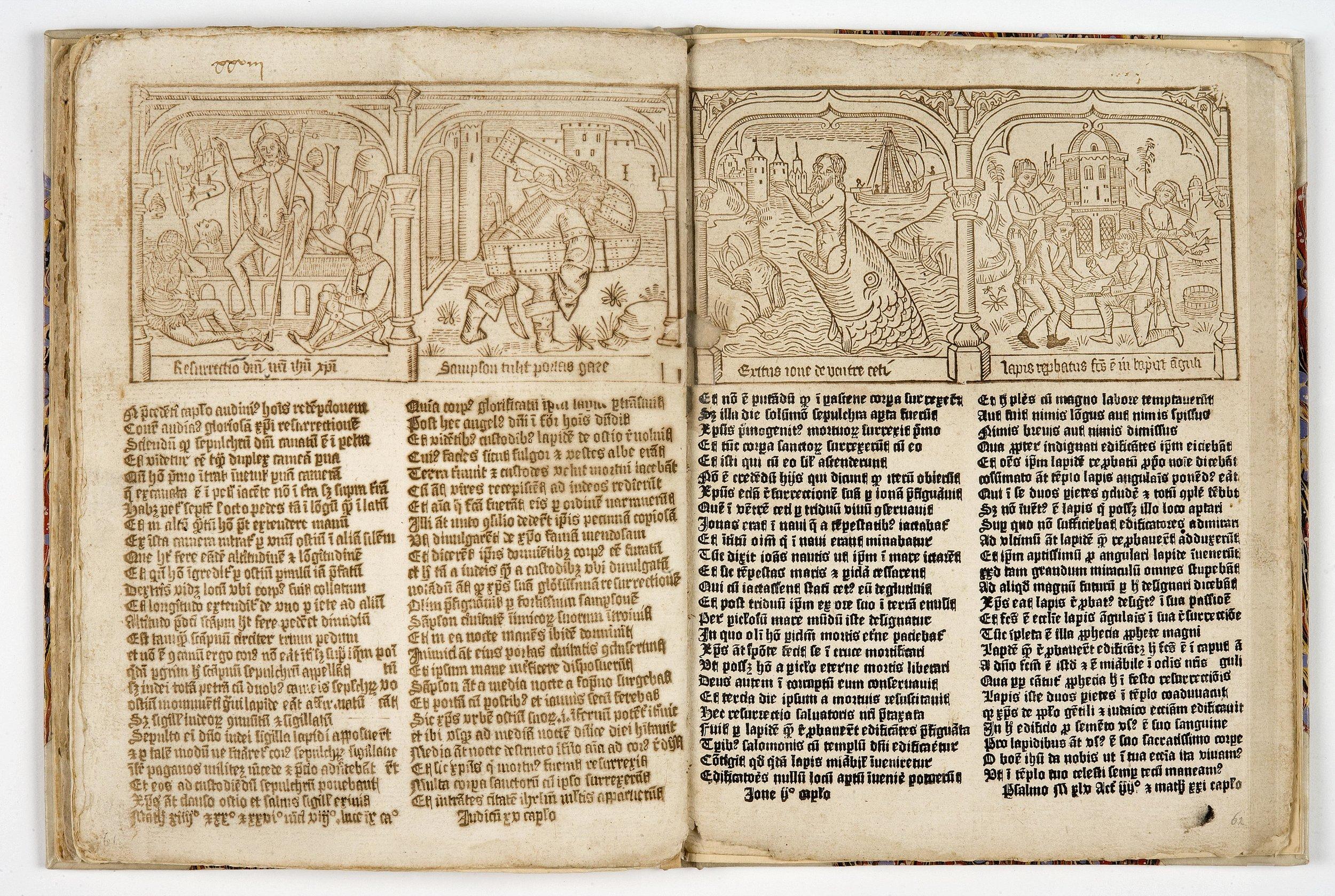 'Speculum humanae salvationis'[35 A 4, 61v-62r]