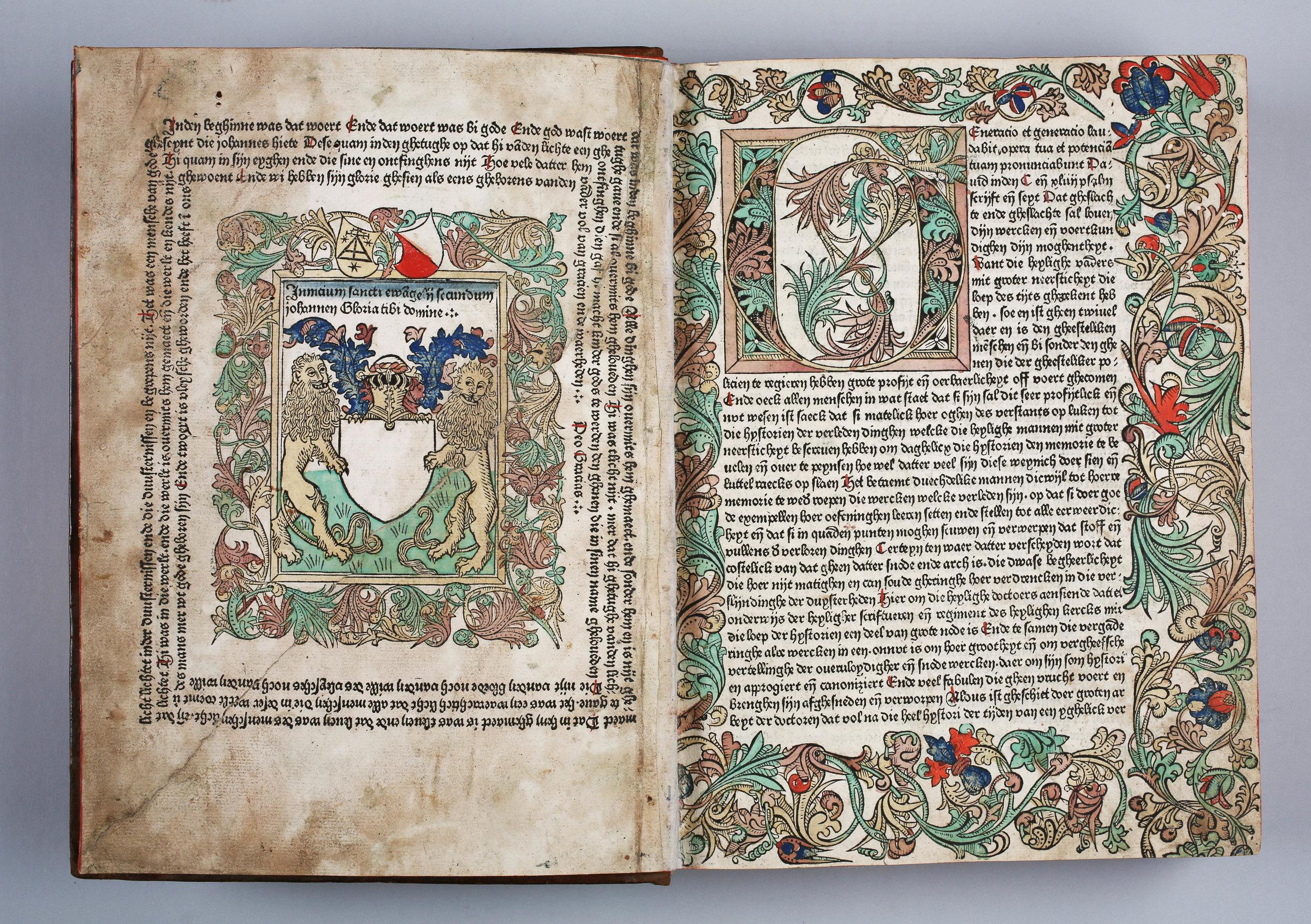 Fasciculus temporum. Gedrukt in Utrecht in 1480, met de hand ingekleurd