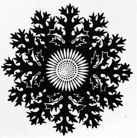 Drukkersvignet ontworpen in 1913 door K.P.C. de Bazel voor de eerste Nederlandse private press, de Zilverdistel van J.F. van Royen in Den Haag.