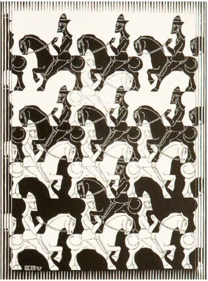 M.C. Escher, Regelmatige vlakverdeling (1958)