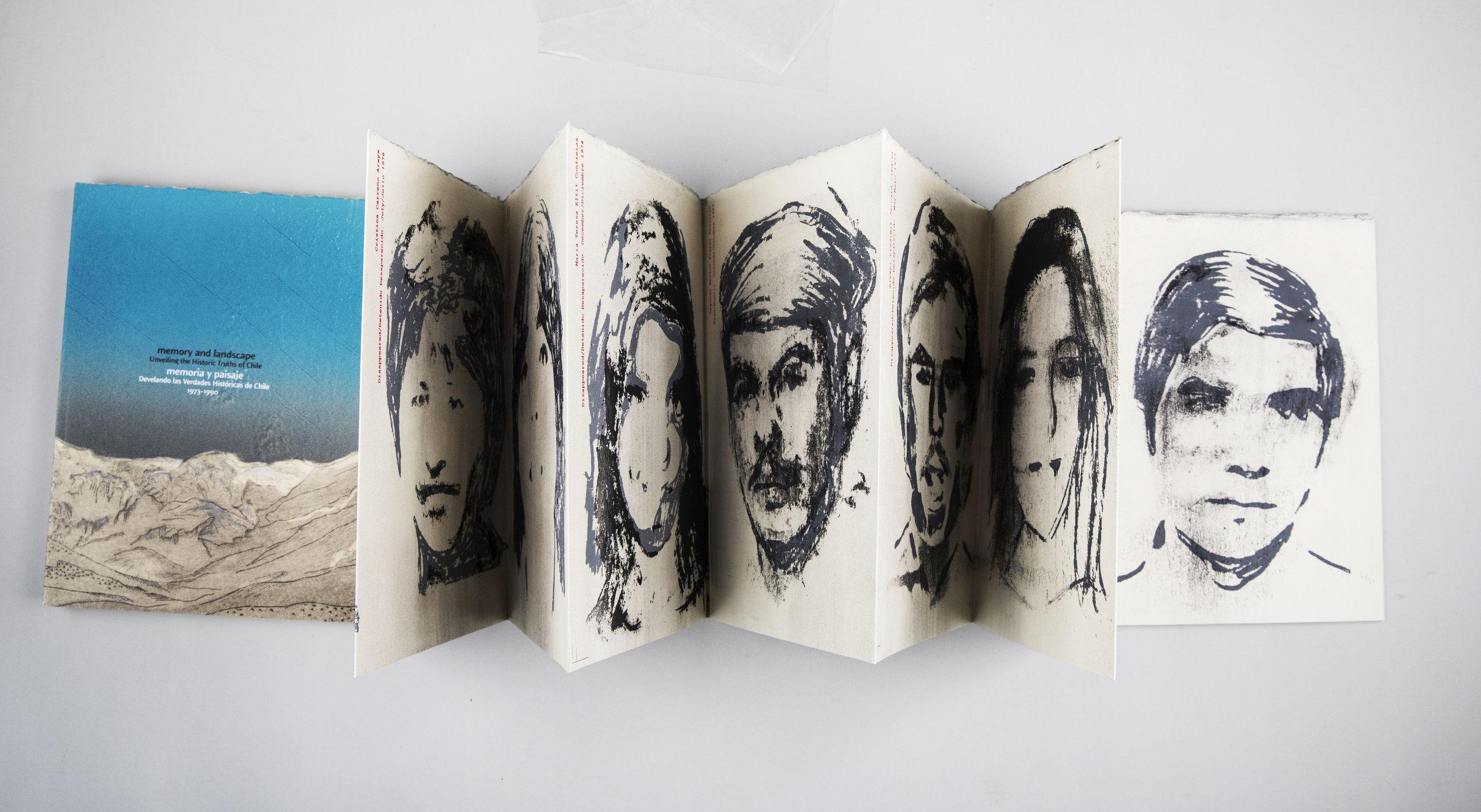 Artist Book,  Memory and Landscape Unveiling the Historic Truths of Chile , 2013. Photo: Huis van het boek  Museum Meermanno