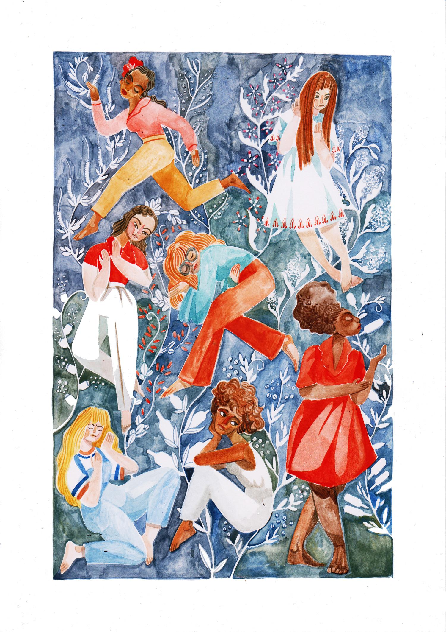 TOP TO BOTTOM, LEFT TO RIGHT: Billie Holiday, Karen Dalton, Misora Hibari, Janis Joplin, Sandy Denny, Whitney Houston and Esther Phillips