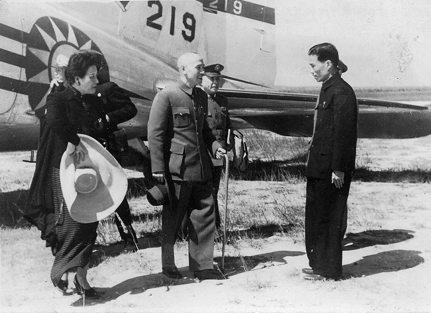 Chiang Kai-shek and Soong Mei-ling during their 1946 visit to Taiwan. Photo courtesy of  Wikimedia Commons.