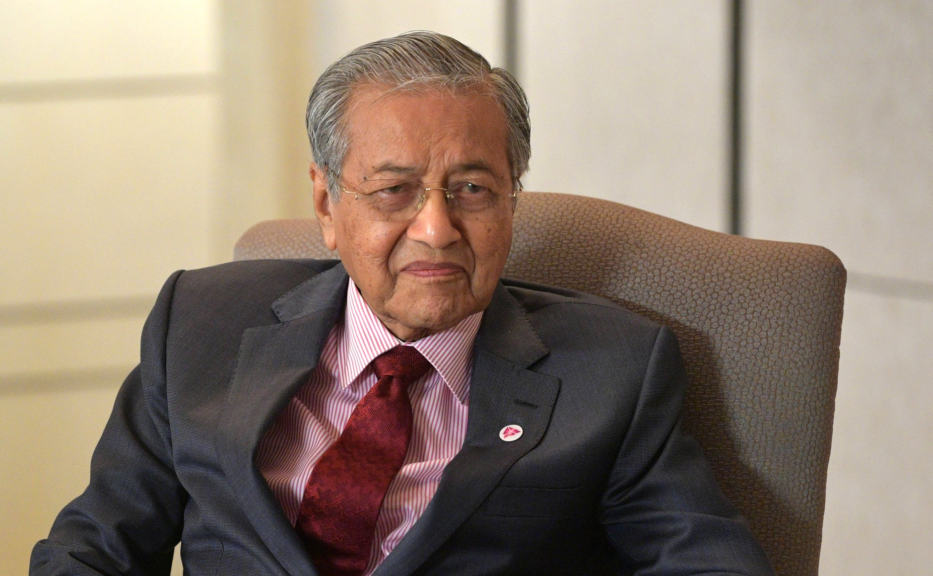 Malaysian Prime Minister Mahathir Mohamad. Photo from the  Kremlin office .
