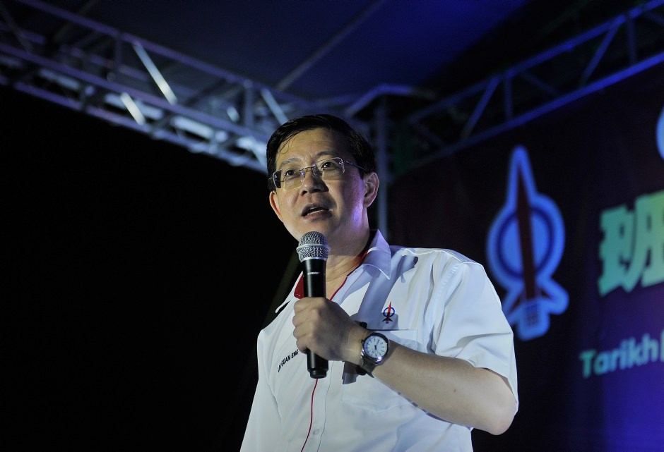 Finance Minister Lim Guan Eng. Photo by  Firdaus Latif .