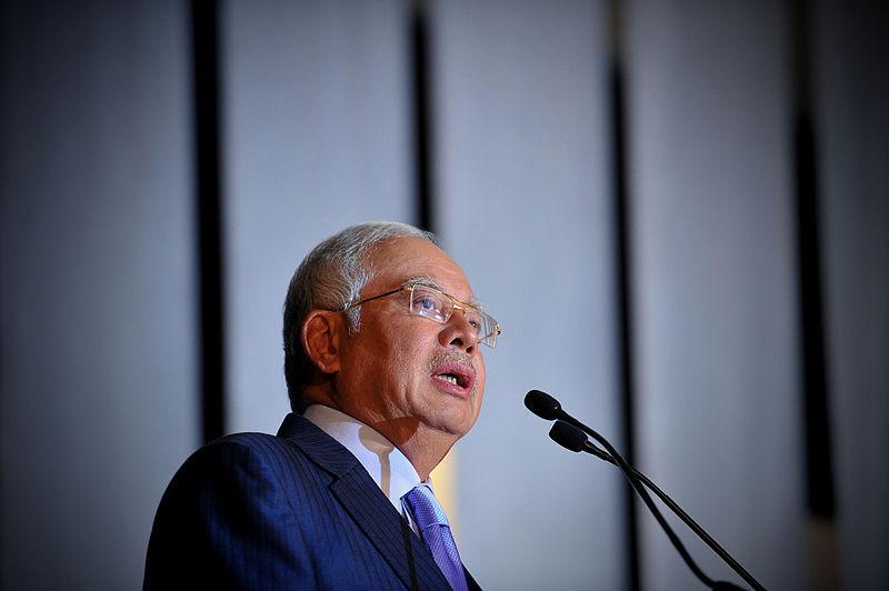 Former Malaysian prime minister Najib Razak. Photo by  Firdaus Latif .