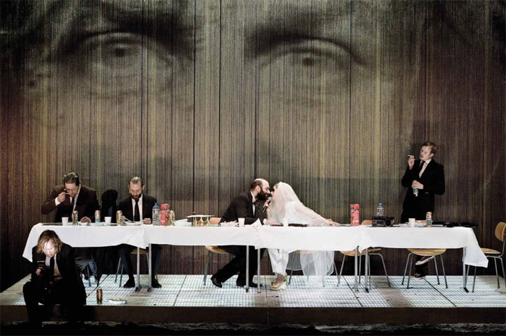 An image from Thomas Ostermeier's  Hamlet . Which was, by all accounts, awesome. I wish I'd seen it.
